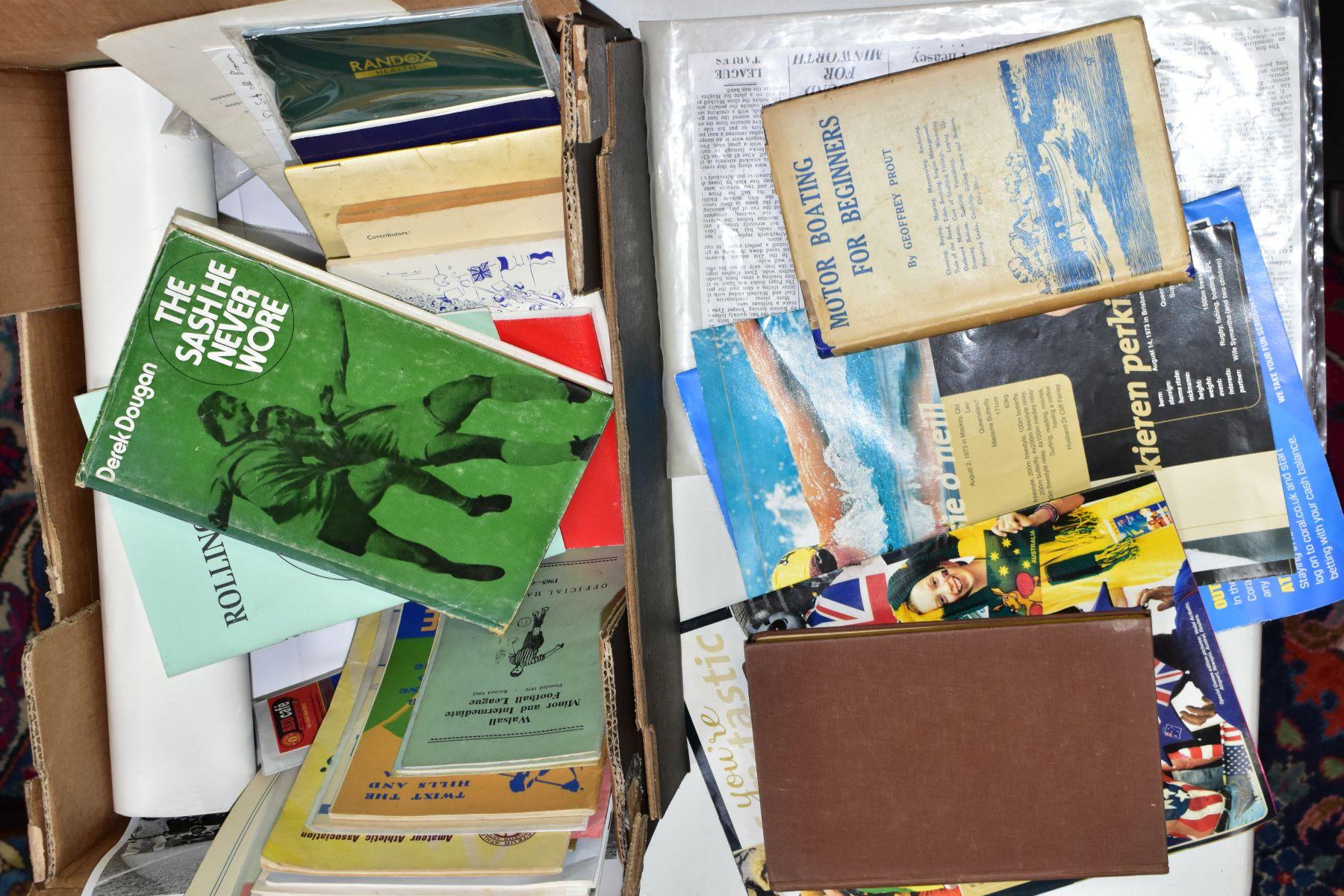 EPHEMERA, three boxes of ephemera, box one includes books, programmes, horse racing passes, Aston - Image 3 of 7