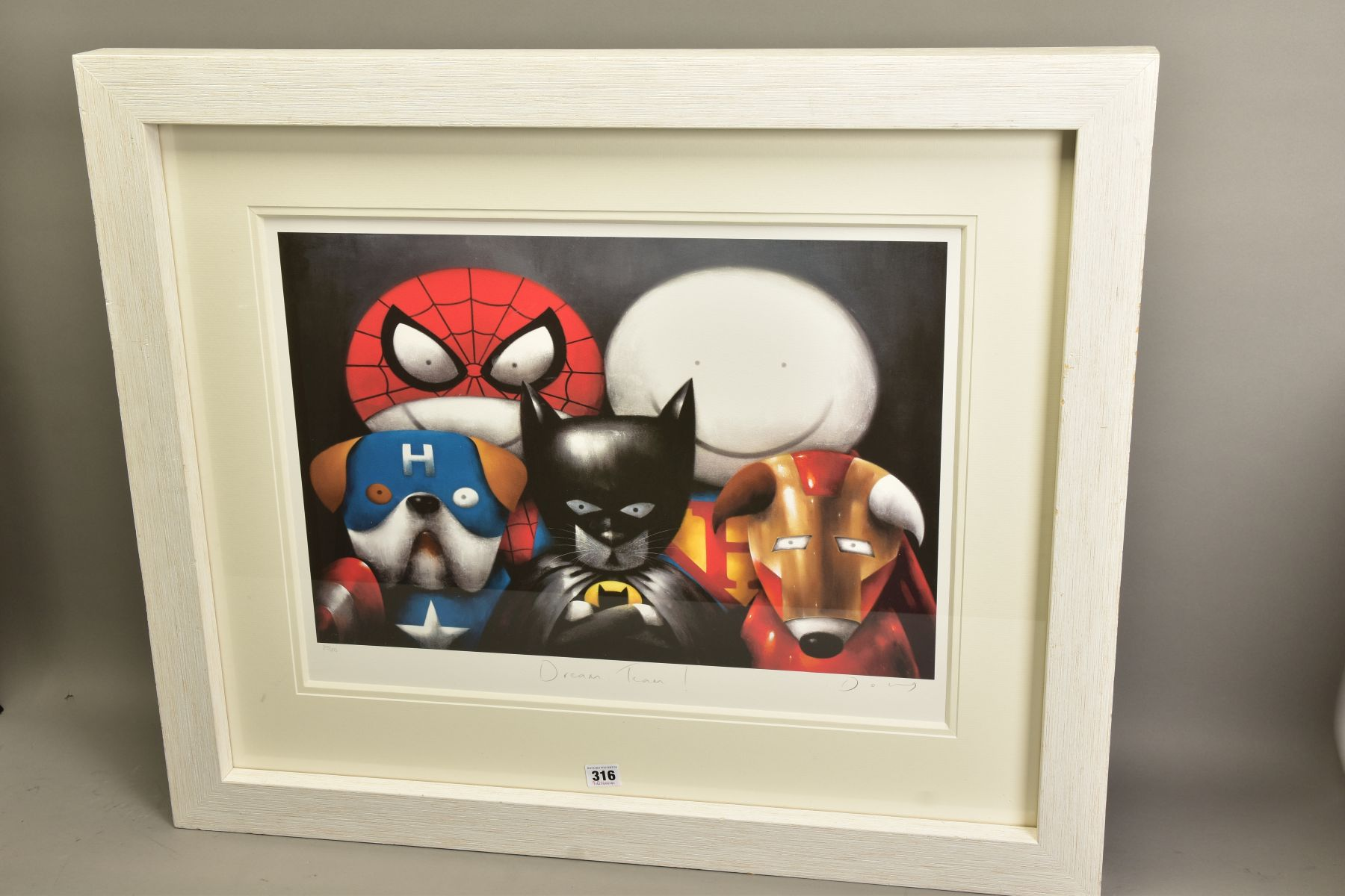 DOUG HYDE (BRITISH 1972) 'DREAM TEAM' a limited edition print of Superheroes in Disguise 213/295, - Image 3 of 6