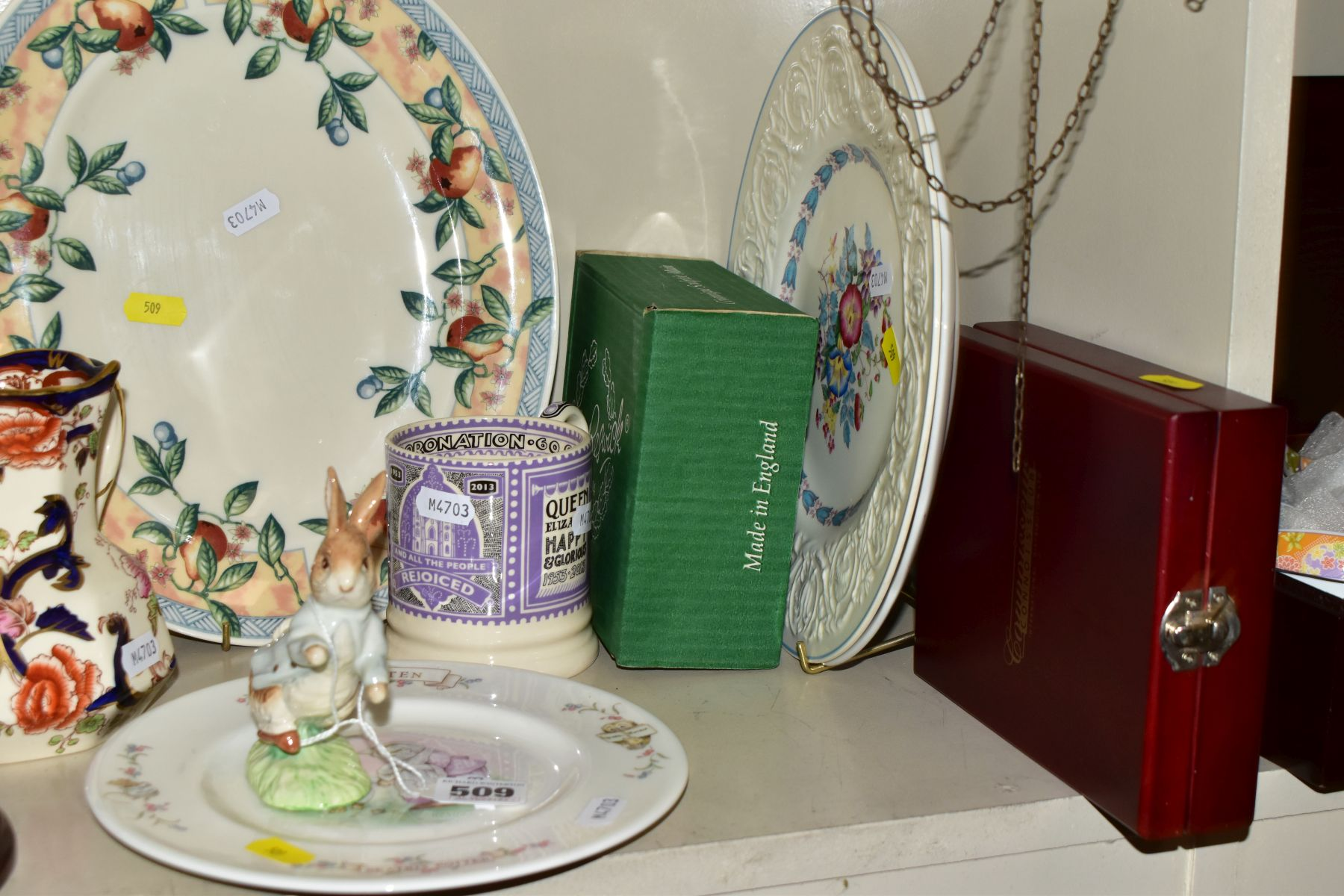 DECORATIVE CERAMICS ETC, to include a boxed Beswick Peter Rabbit, Royal Albert 'Tom Kitten' plate, - Image 2 of 11
