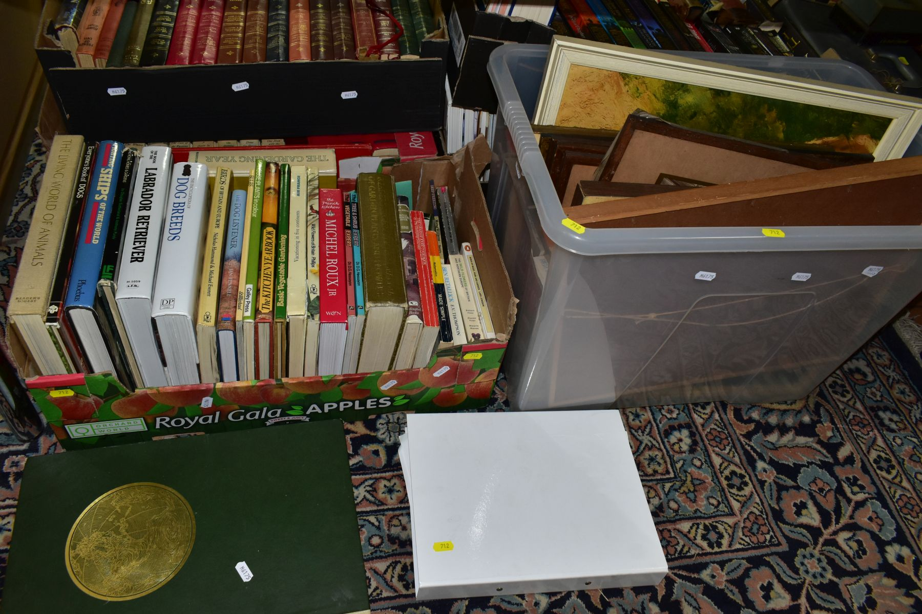 BOOKS, five boxes containing 160 titles including Atlases, cookery , animals, health, woodwork, - Image 6 of 7