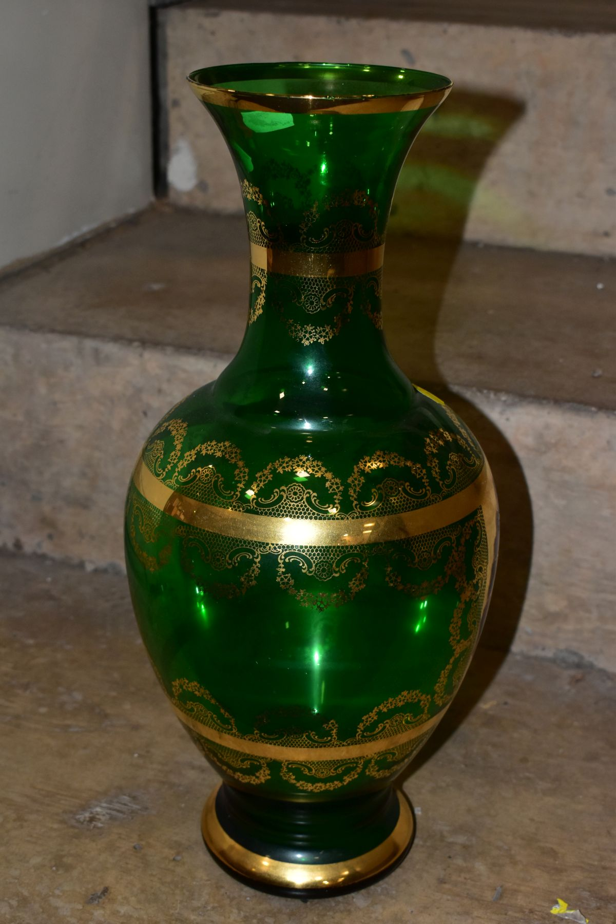 A GROUP OF CUT/COLOURED GLASSWARES, etc, to include a pair of Waterford crystal wines, a Stuart - Image 11 of 13