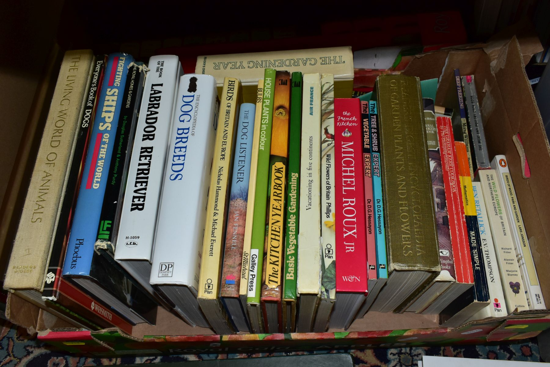 BOOKS, five boxes containing 160 titles including Atlases, cookery , animals, health, woodwork, - Image 7 of 7
