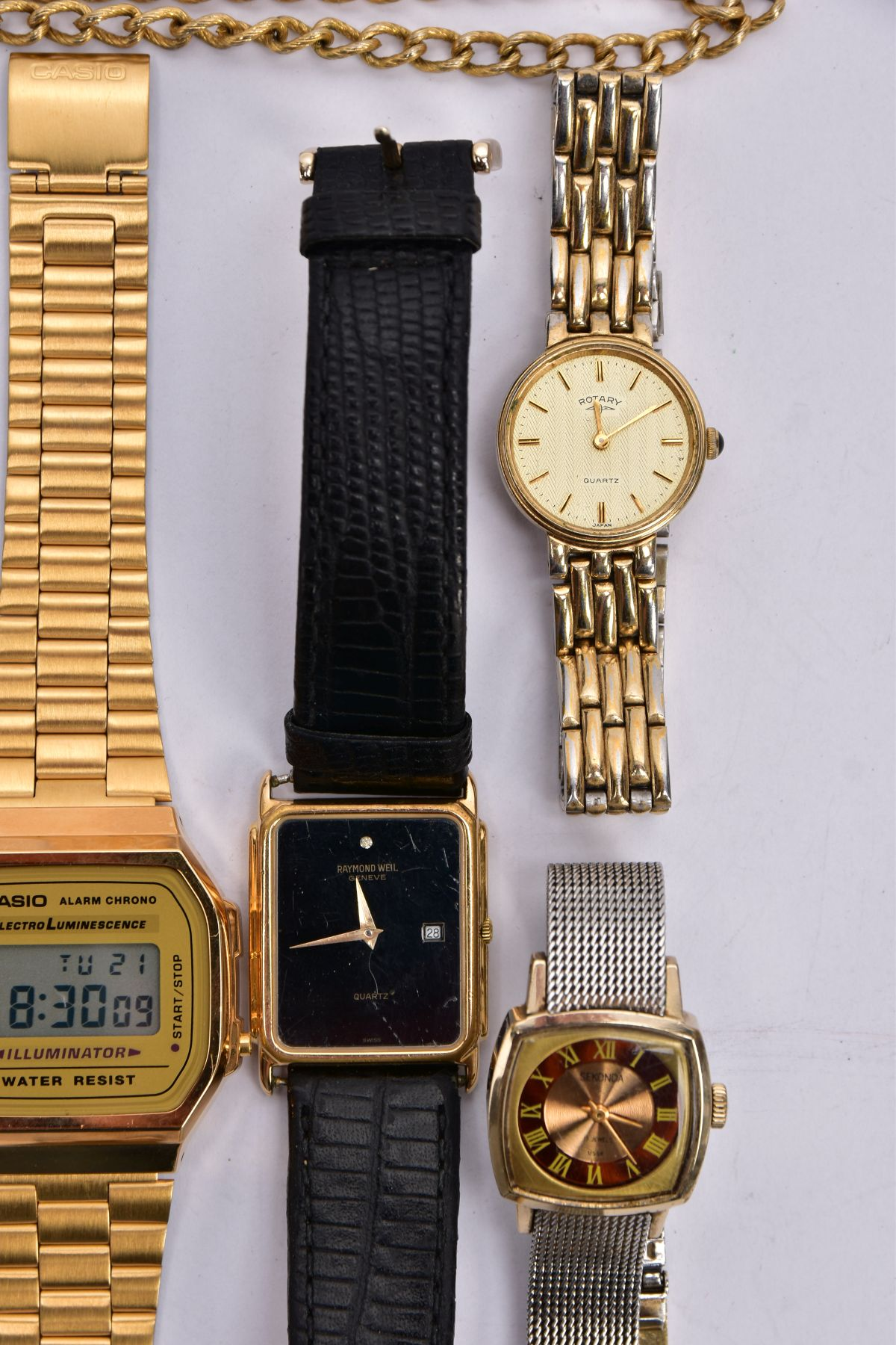 A BAG OF ASSORTED WRISTWATCHES, to include a 'Casio alarm chrono, electro luminescence' - Image 5 of 5