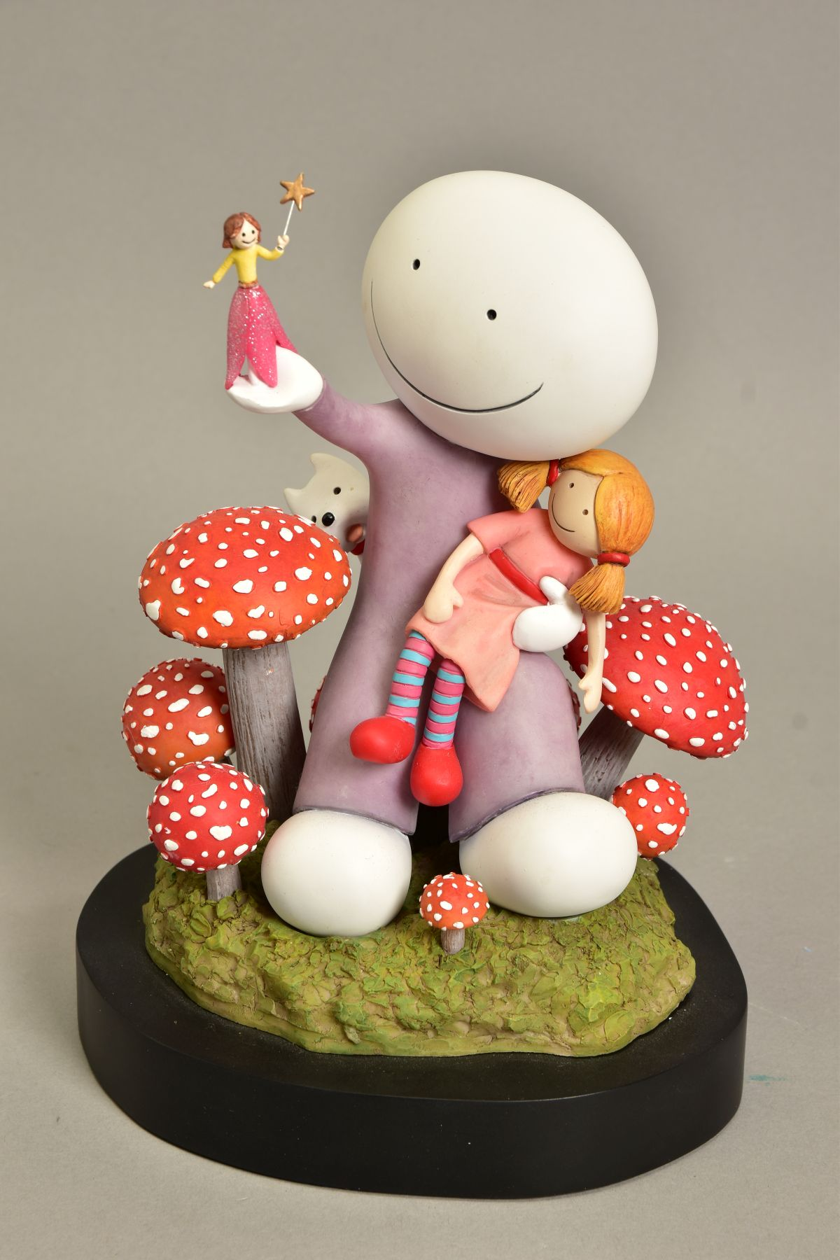 DOUG HYDE (BRITISH 1972) 'MAKE A WISH', limited edition sculpture of a girl and her doll, - Image 2 of 10