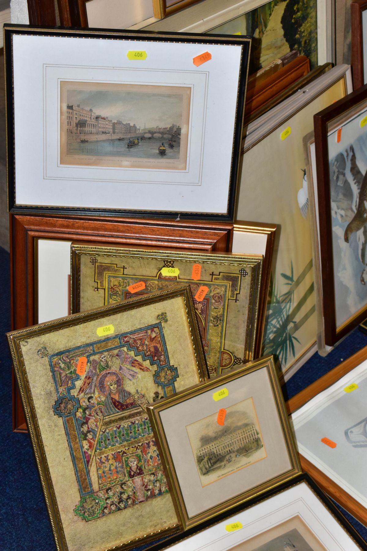 PAINTINGS AND PRINTS etc, to include four watercolour landscapes by Jose McKinnon, four signed - Image 2 of 3