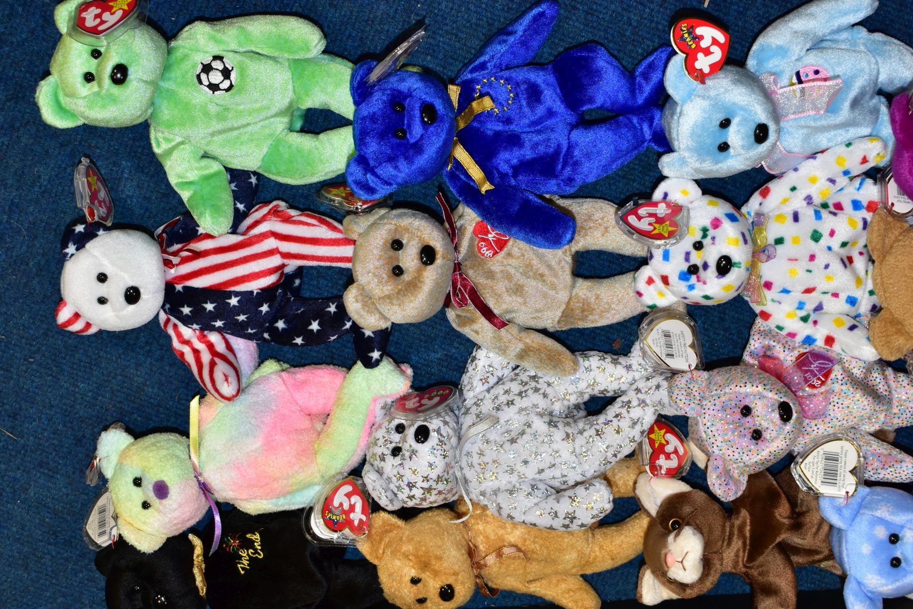 TWO BOXES OF ASSORTED TY BEANIE BABIES, majority with tags, includes Platinum Membership case, - Image 6 of 7