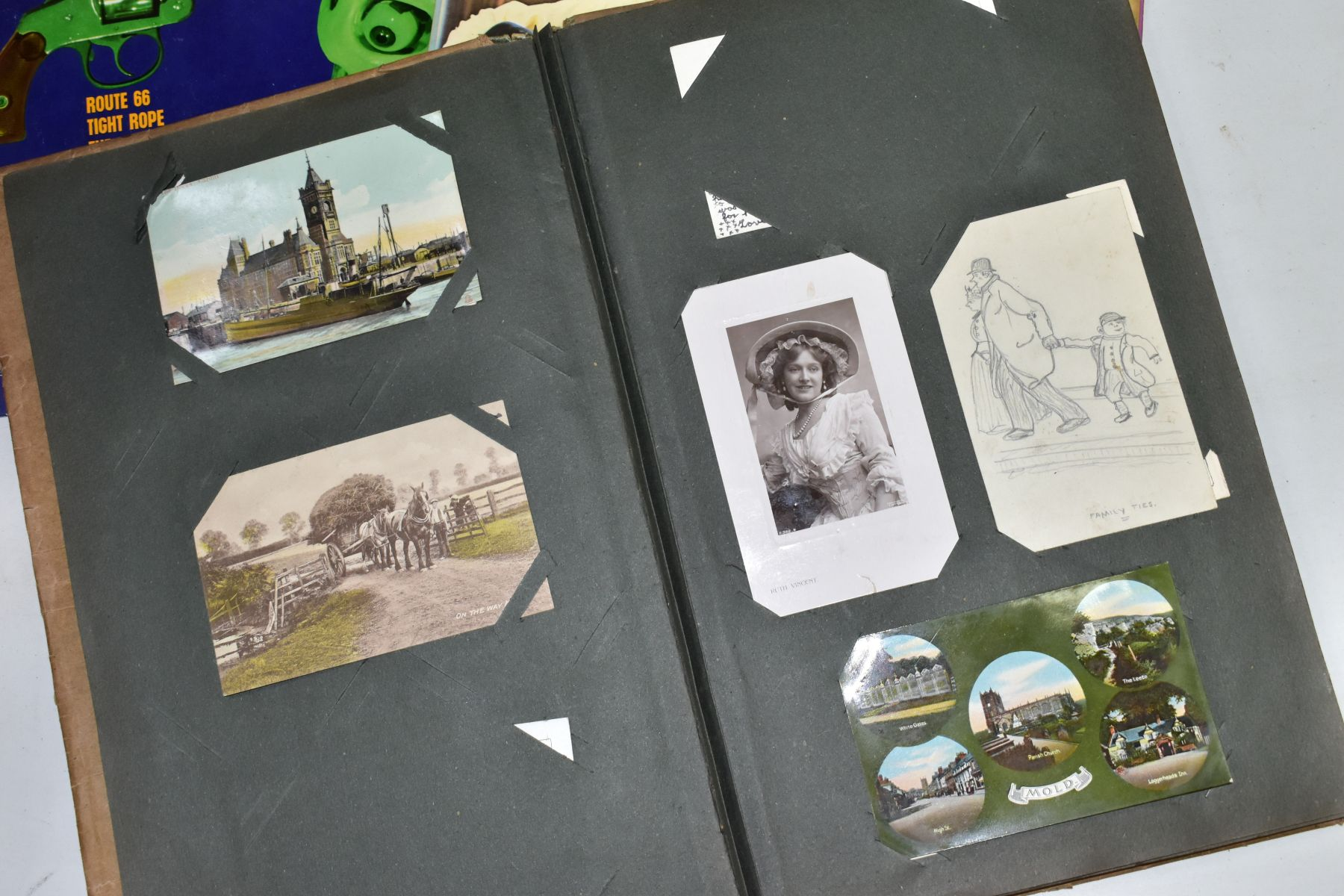 EPHEMERA, once box containing three Edwardian Postcard Albums (approximately 325 postcards), to - Image 22 of 23