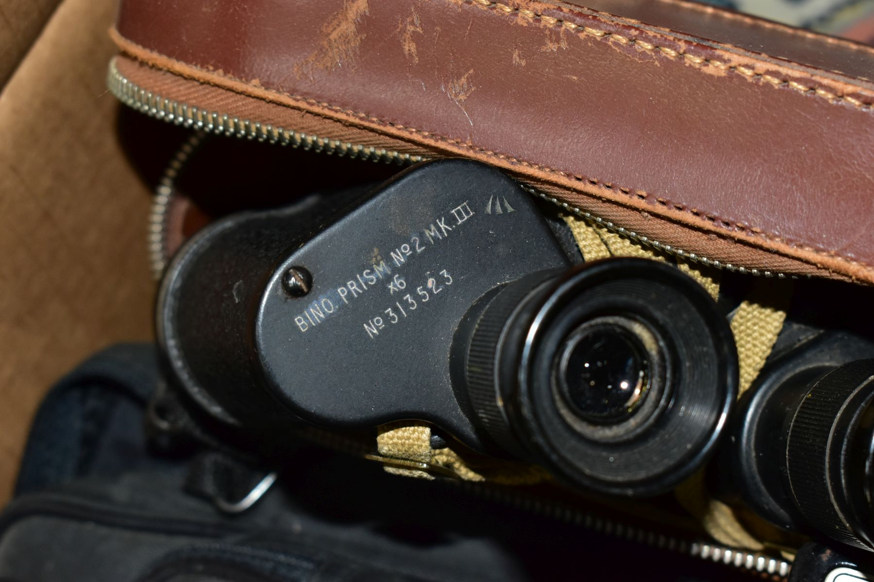 BINOCULARS, CAMERAS AND TYPEWRITER, ETC, to include a pair of Kershaw military prism No.2 MKIII - Image 3 of 9