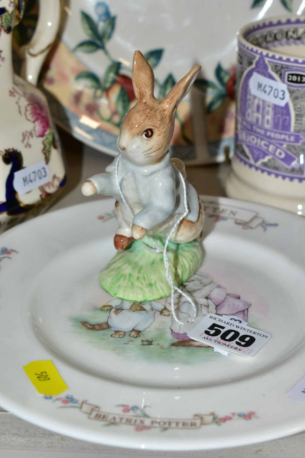 DECORATIVE CERAMICS ETC, to include a boxed Beswick Peter Rabbit, Royal Albert 'Tom Kitten' plate, - Image 3 of 11