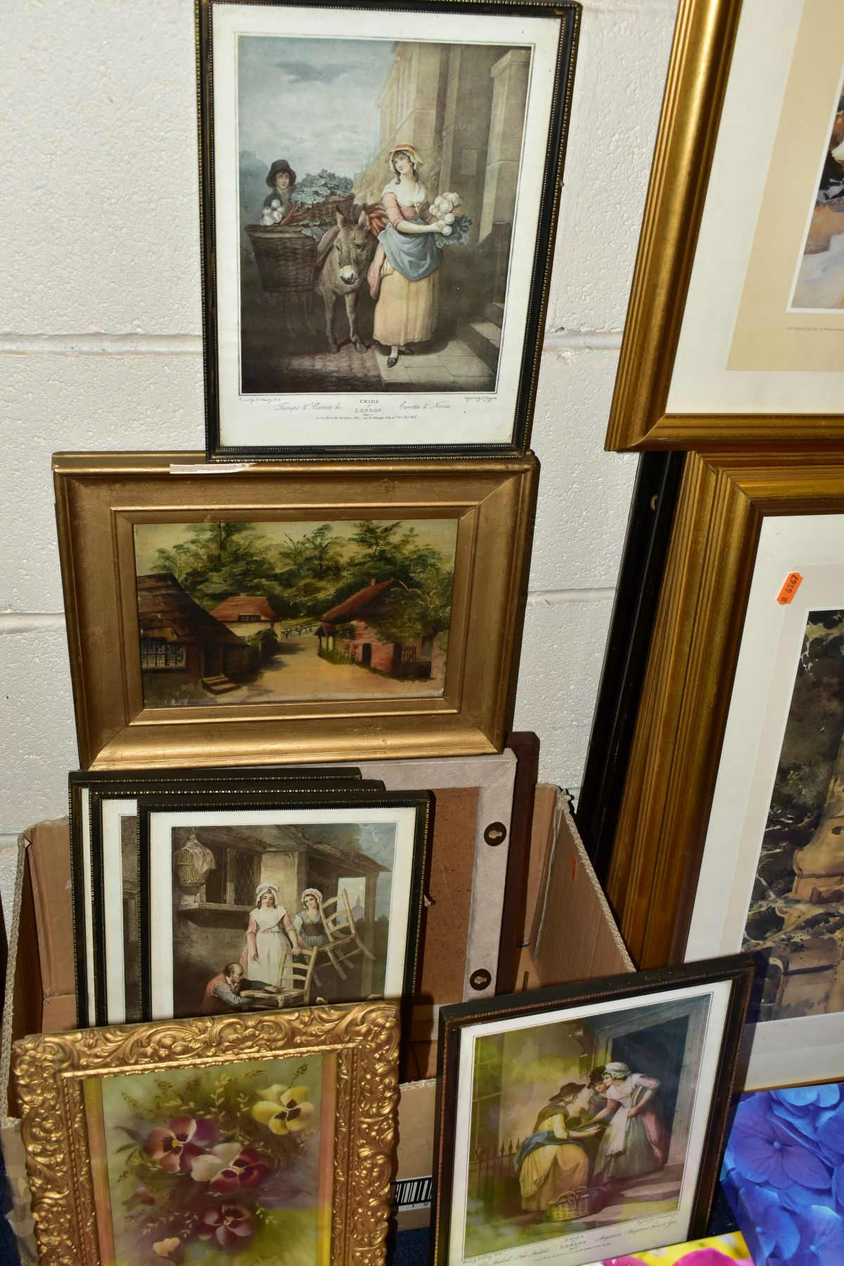 PAINTINGS AND PRINTS, ETC, to include an unsigned oil on canvas depicting a sleeping night watchman, - Image 6 of 7