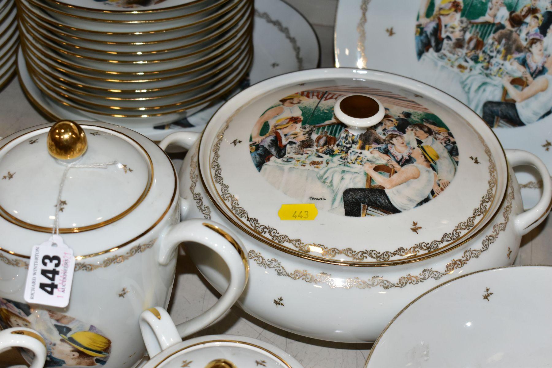 A LIMOGES 'RENOIR' DINNER SERVICE, marked to the base 'Veritable Porcelaine de Limoges Decor Reserve - Image 3 of 9