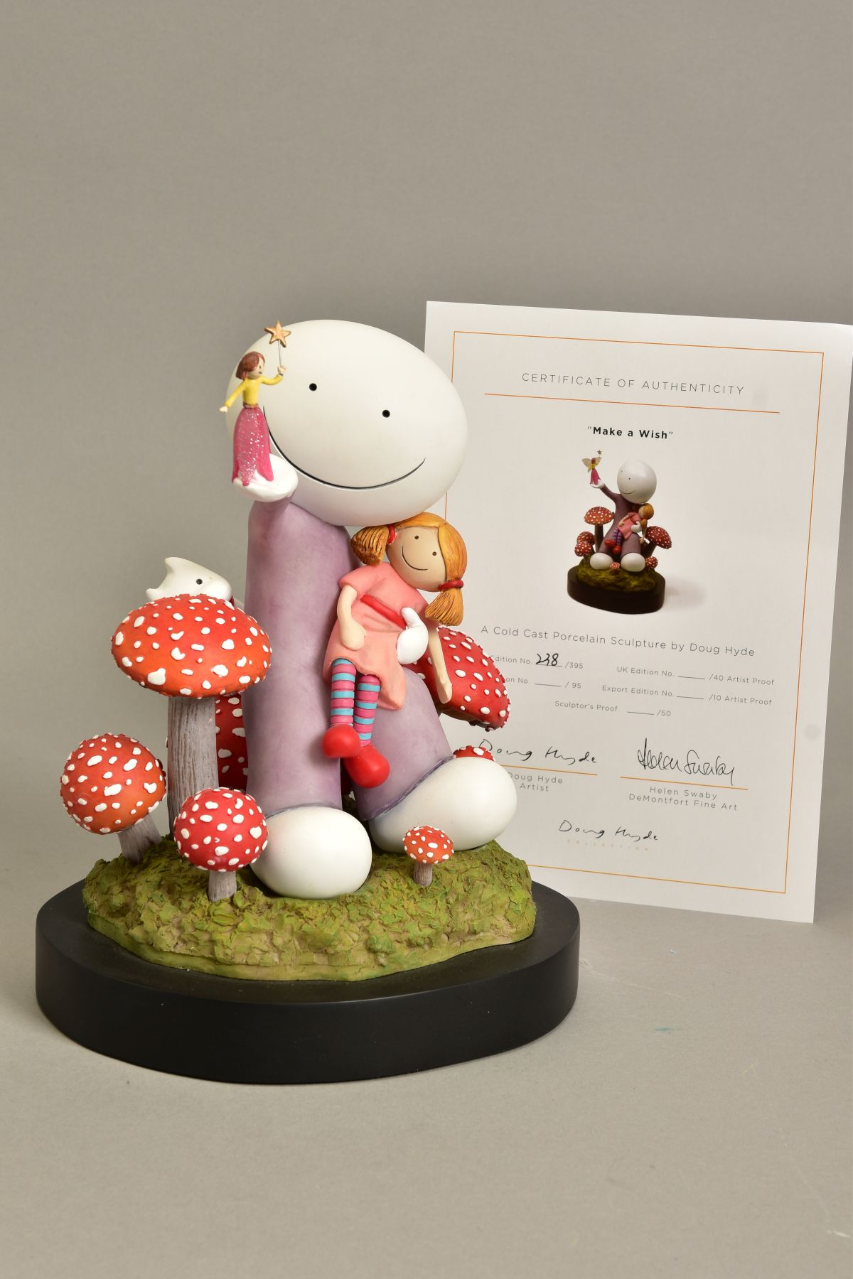 DOUG HYDE (BRITISH 1972) 'MAKE A WISH', limited edition sculpture of a girl and her doll,