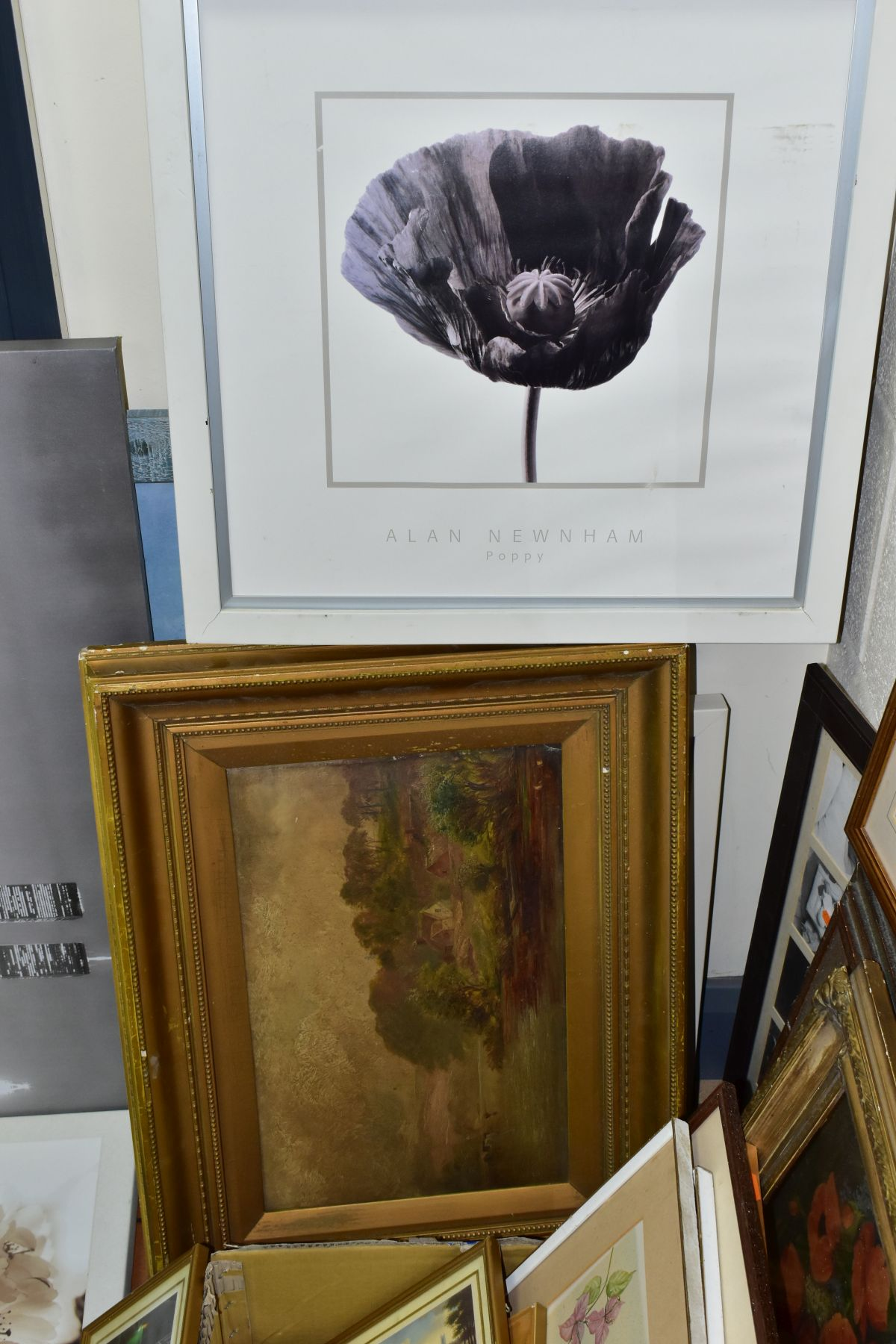 PAINTINGS AND PRINTS, to include an unsigned oil on board circa late 19th/early 20th century, - Image 4 of 5