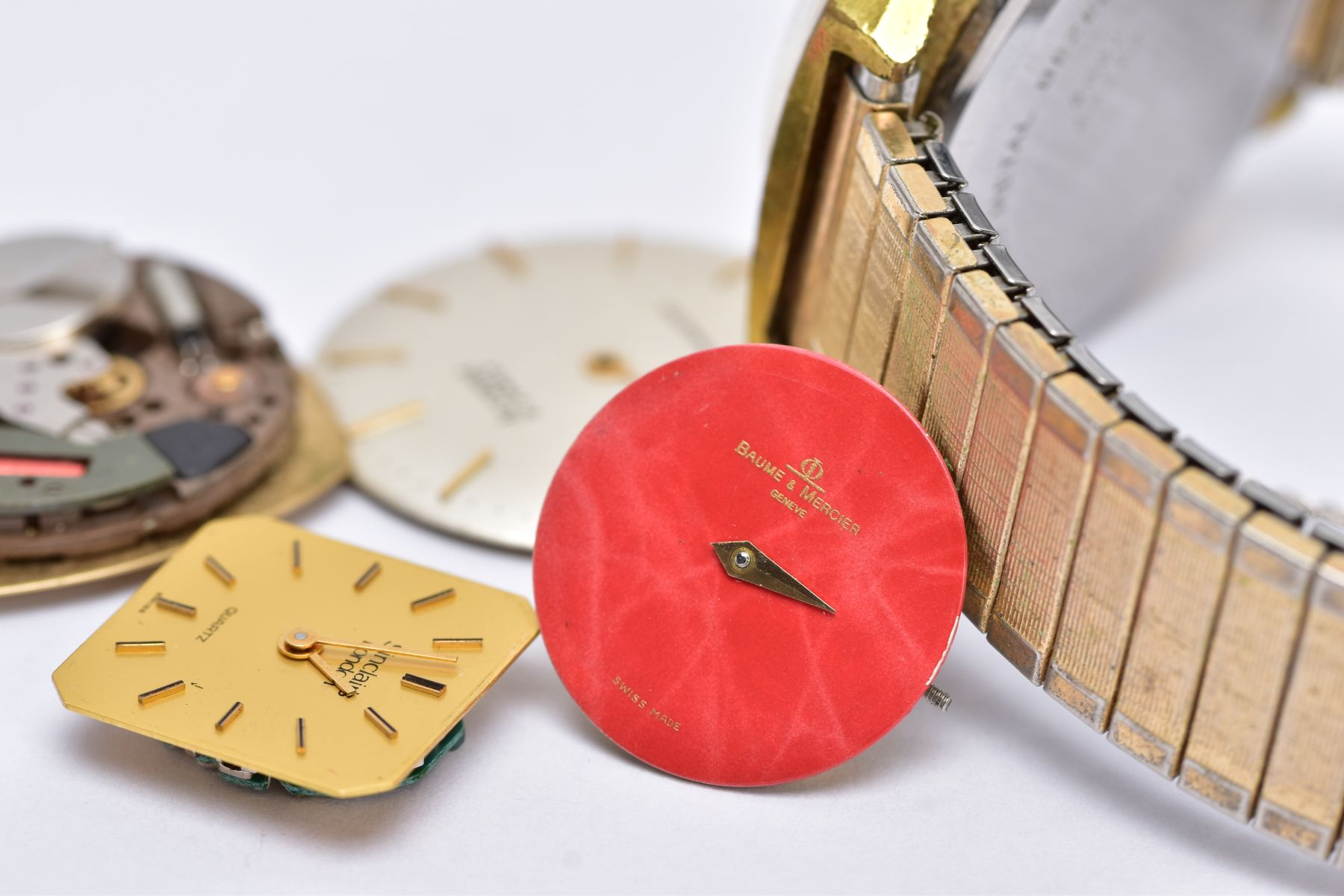A GENTS 'LIMIT' WRISTWATCH AND WATCH PARTS, the quartz 'Limit' wristwatch, round gold dial signed ' - Image 6 of 7