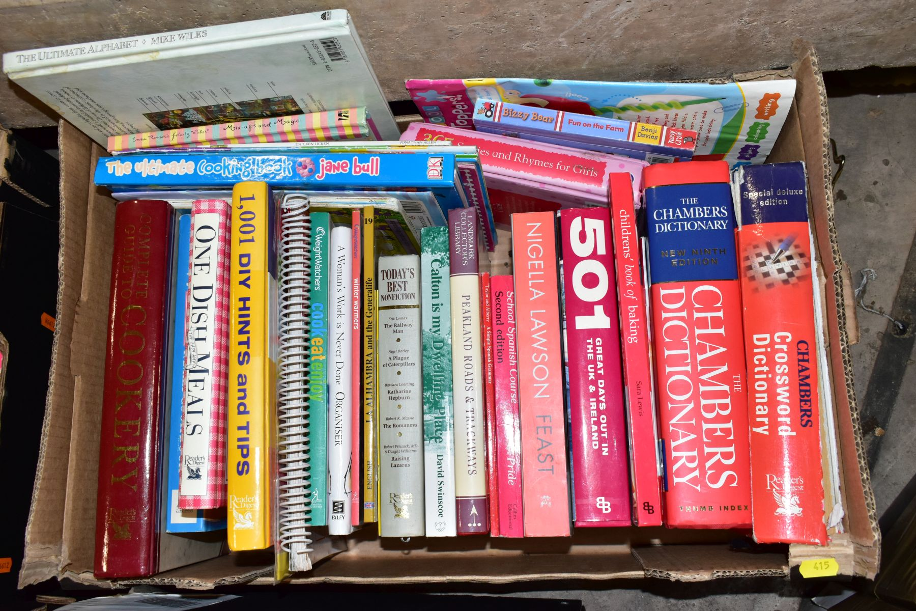 SEVEN BOXES OF ASSORTED BOOKS, including novels, cookery books, DIY books, motoring interest etc, - Image 8 of 8