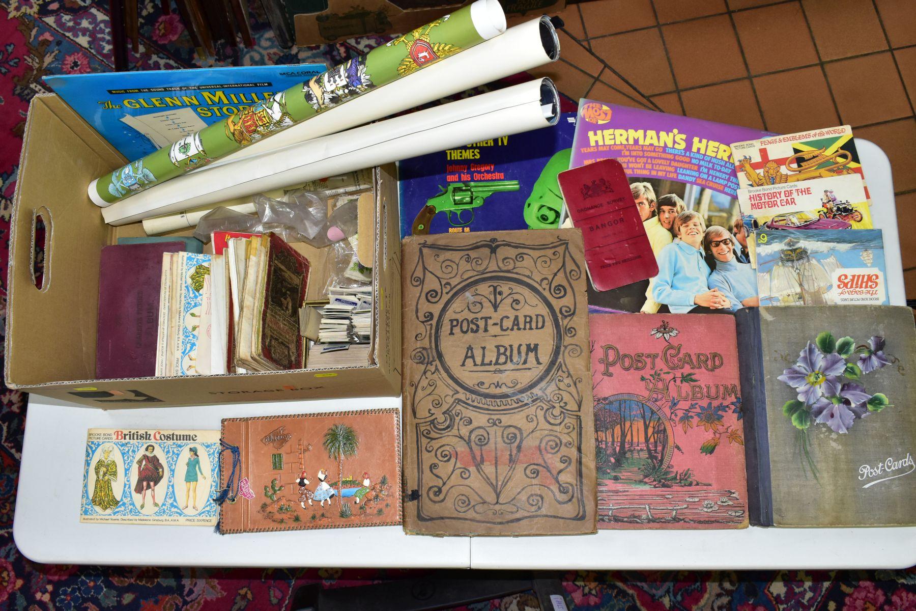 EPHEMERA, once box containing three Edwardian Postcard Albums (approximately 325 postcards), to - Image 5 of 23