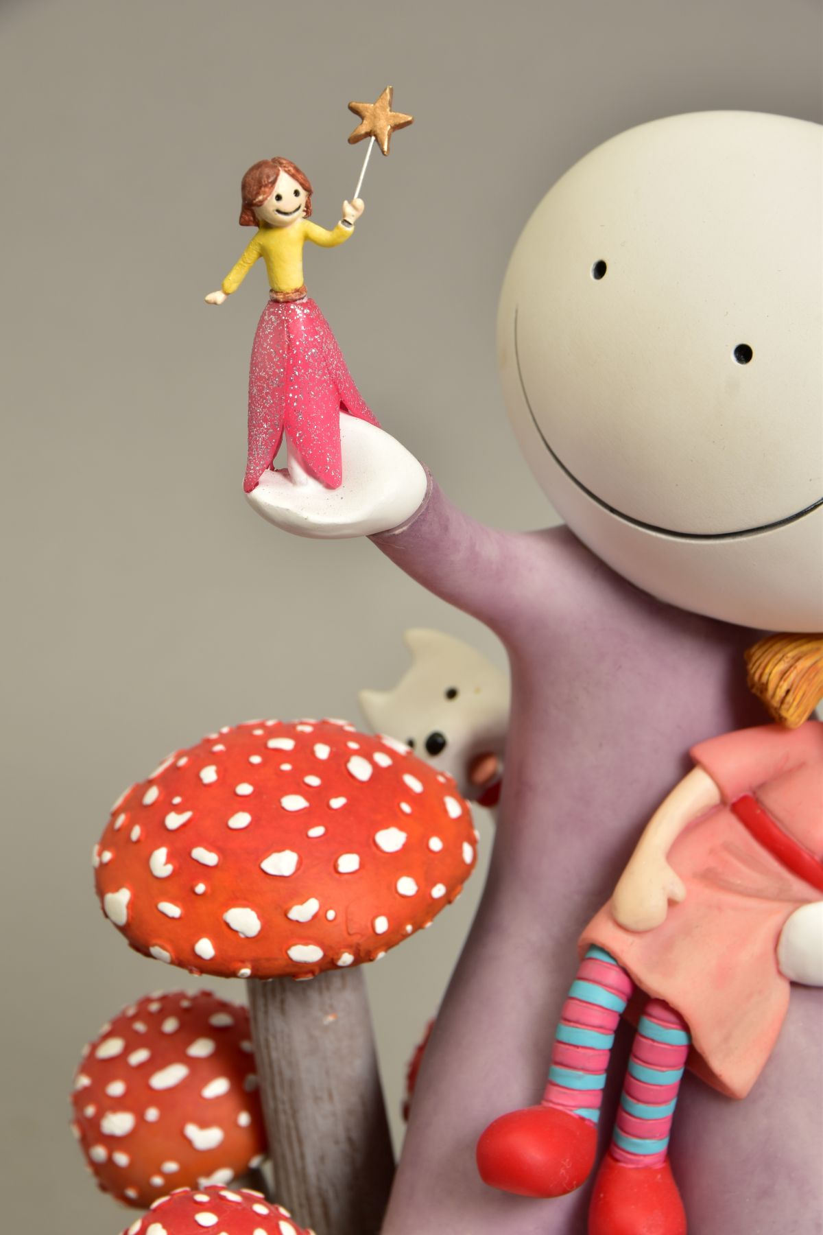 DOUG HYDE (BRITISH 1972) 'MAKE A WISH', limited edition sculpture of a girl and her doll, - Image 3 of 10
