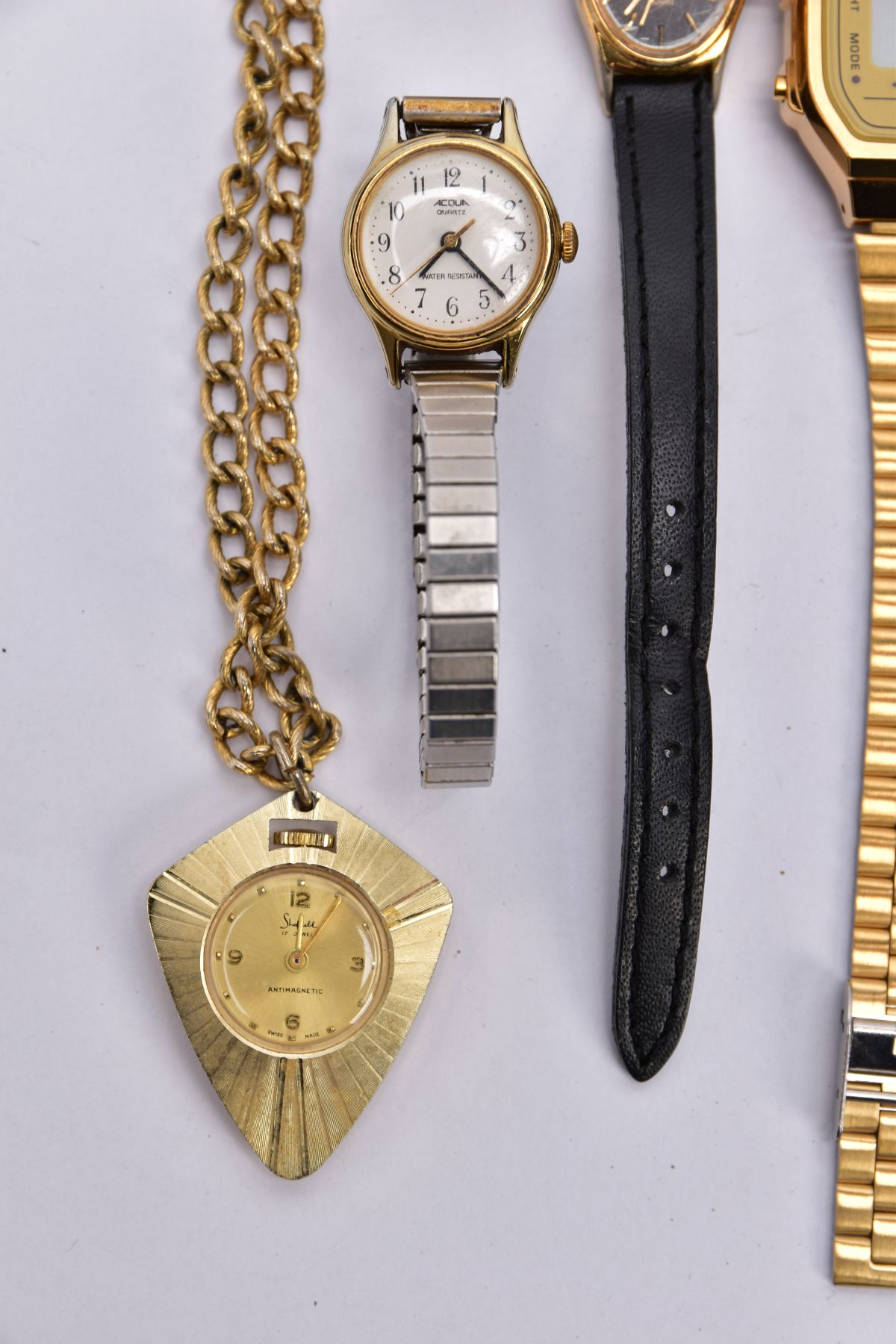 A BAG OF ASSORTED WRISTWATCHES, to include a 'Casio alarm chrono, electro luminescence' - Image 3 of 5