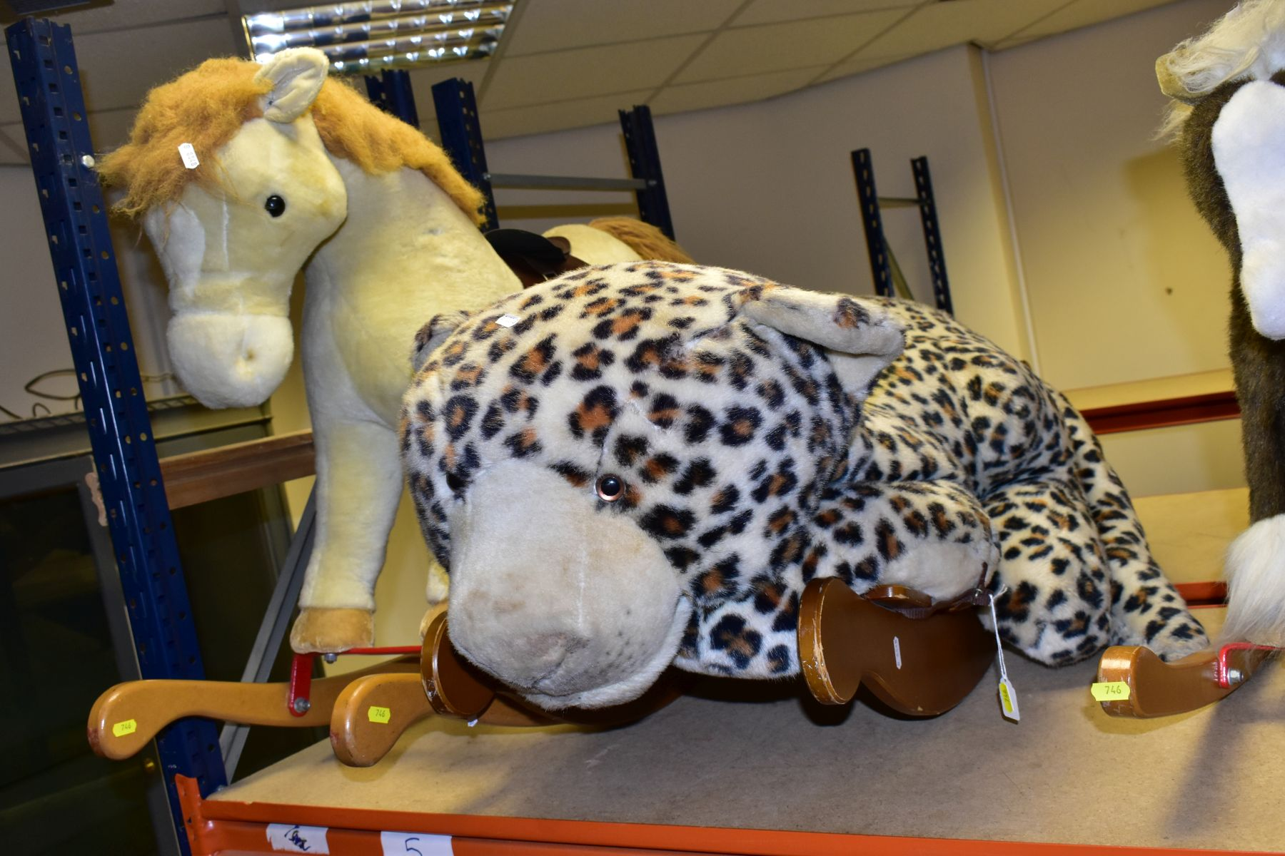 A MERRYTHOUGHT ROCKING LEOPARD, with a small Merrythought Rocking Horse, both in playworn - Image 4 of 18