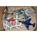 A QUANTITY OF ASSORTED BOXED AND UNBOXED AIRCRAFT MODELS, to include boxed Corgi toys Boeing 747