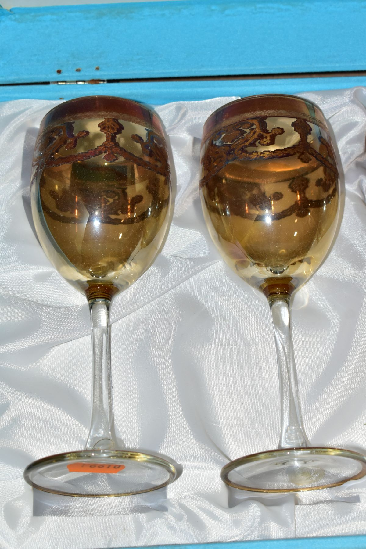 A GROUP OF GLASSWARE, including a boxed set of six Crystallera F.lli Fumo wine glasses, one set - Image 9 of 11