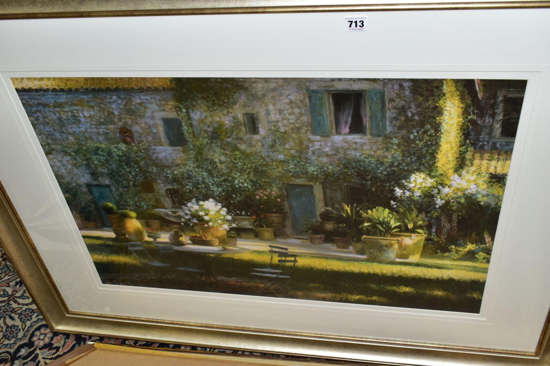 MODERN DECORATIVE PRINTS, ETC, comprising Greg Singley 'Calzione Al Fresco', an Italian rustic - Image 3 of 3
