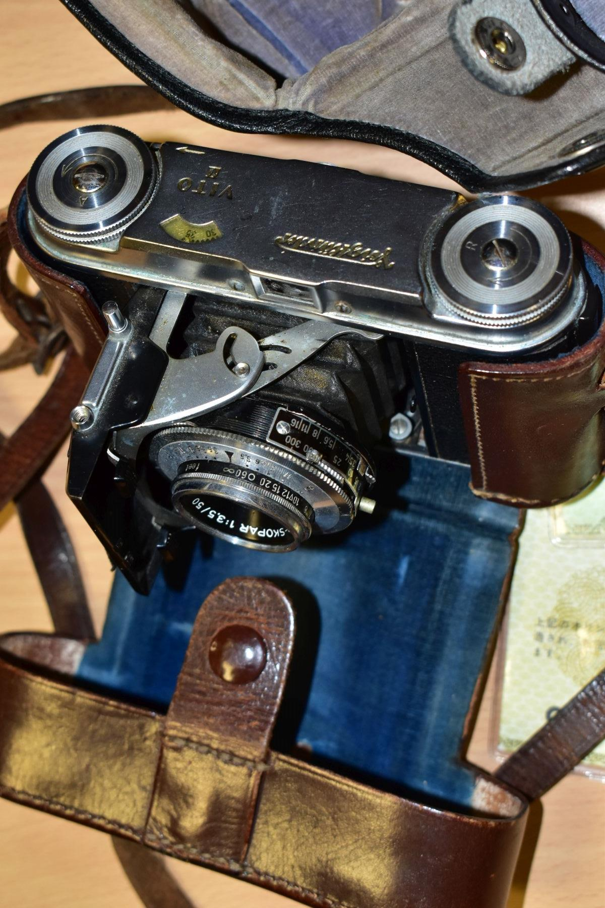 AN ORIGINAL OLYMPUS F HALF FRAME FILM CAMERA fitted with a 38mm f1.8 Olympus Zuiko lens and F T - Image 3 of 11