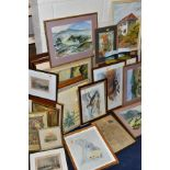 PAINTINGS AND PRINTS etc, to include four watercolour landscapes by Jose McKinnon, four signed