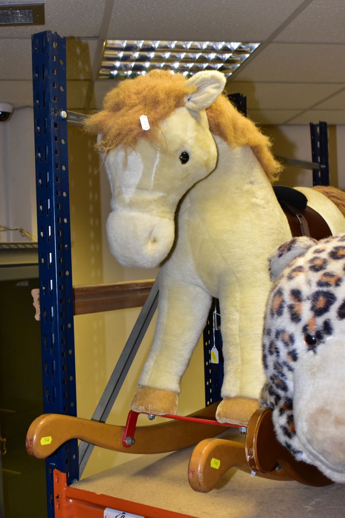 A MERRYTHOUGHT ROCKING LEOPARD, with a small Merrythought Rocking Horse, both in playworn - Image 5 of 18
