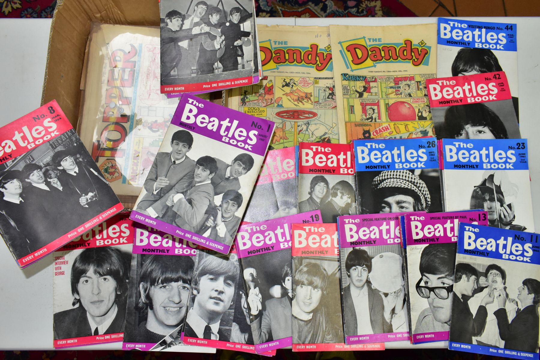 A QUANTITY OF THE BEATLES MONTHLY BOOK, to include No's 1, 2, 4-11, 13-19, 21-28, 32-34, 37-40, 42 &