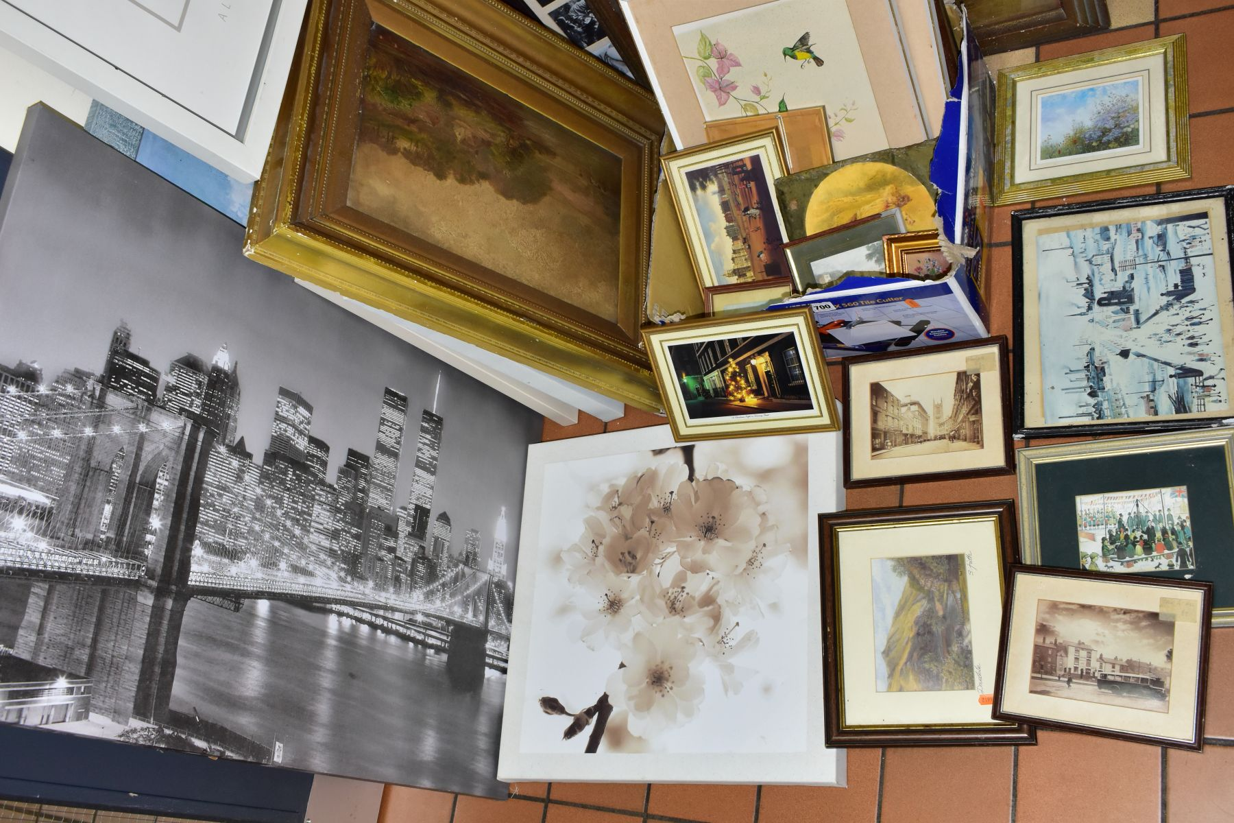 PAINTINGS AND PRINTS, to include an unsigned oil on board circa late 19th/early 20th century, - Image 5 of 5