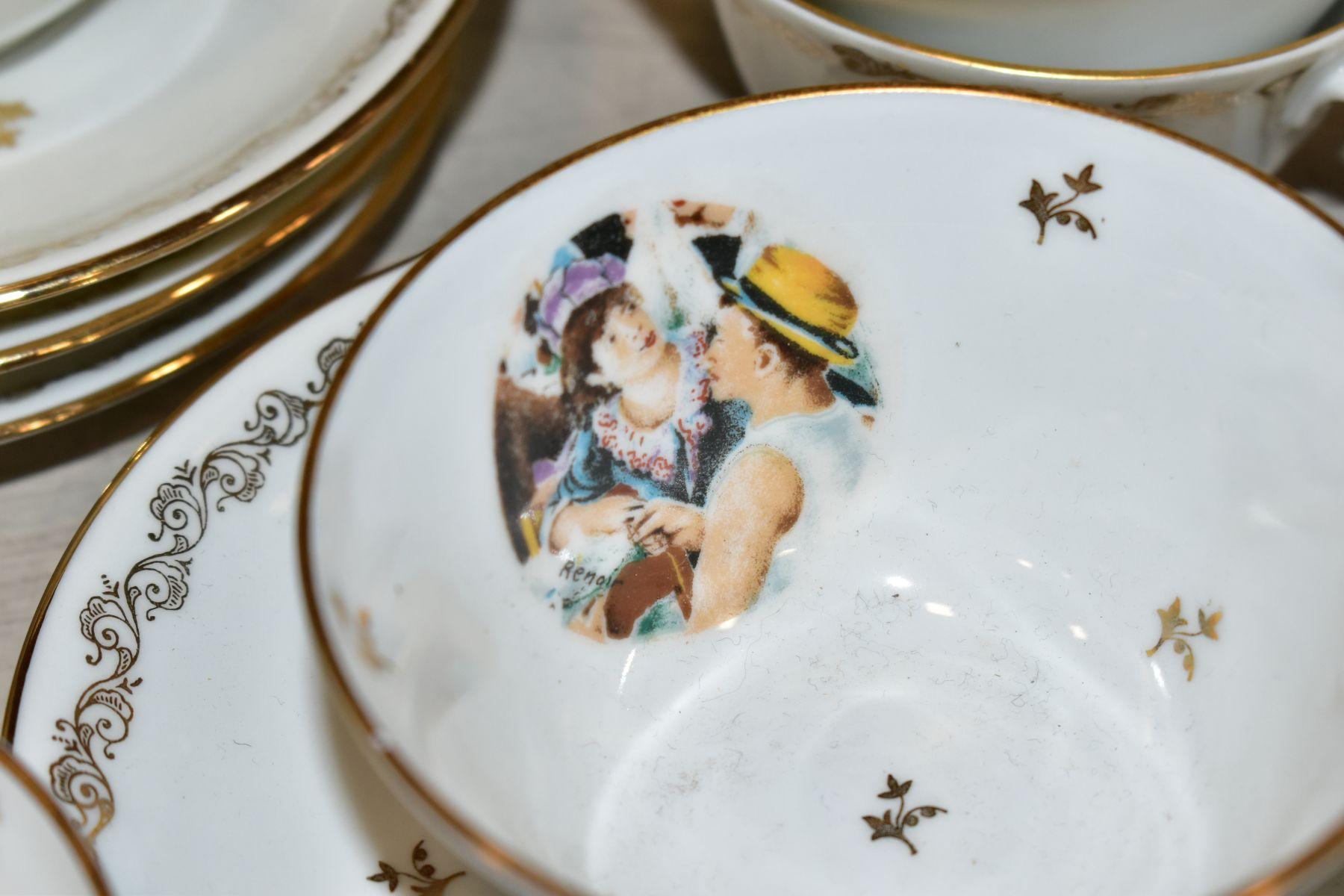 A LIMOGES 'RENOIR' DINNER SERVICE, marked to the base 'Veritable Porcelaine de Limoges Decor Reserve - Image 6 of 9