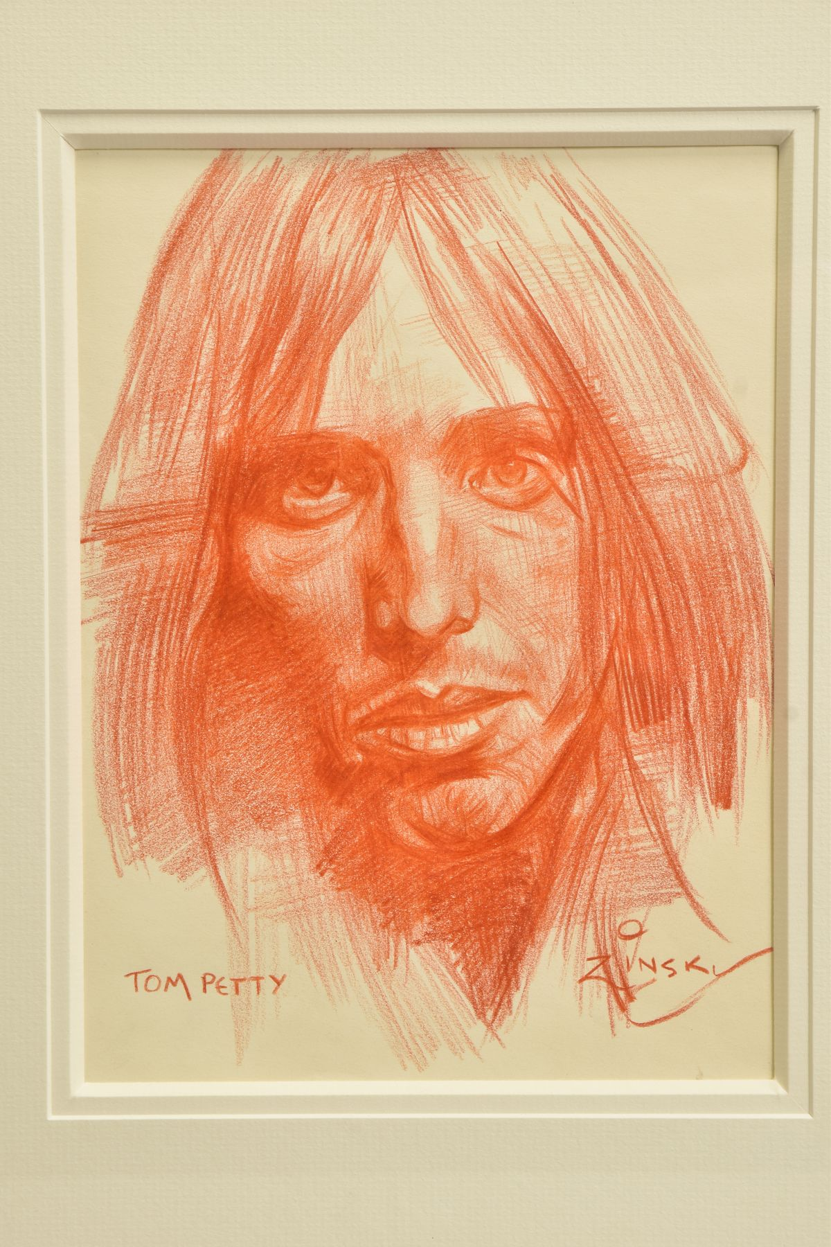 ZINSKY (BRITISH CONTEMPORARY) 'TOM PETTY' a portrait of the American rock star, signed and titled to - Image 2 of 4