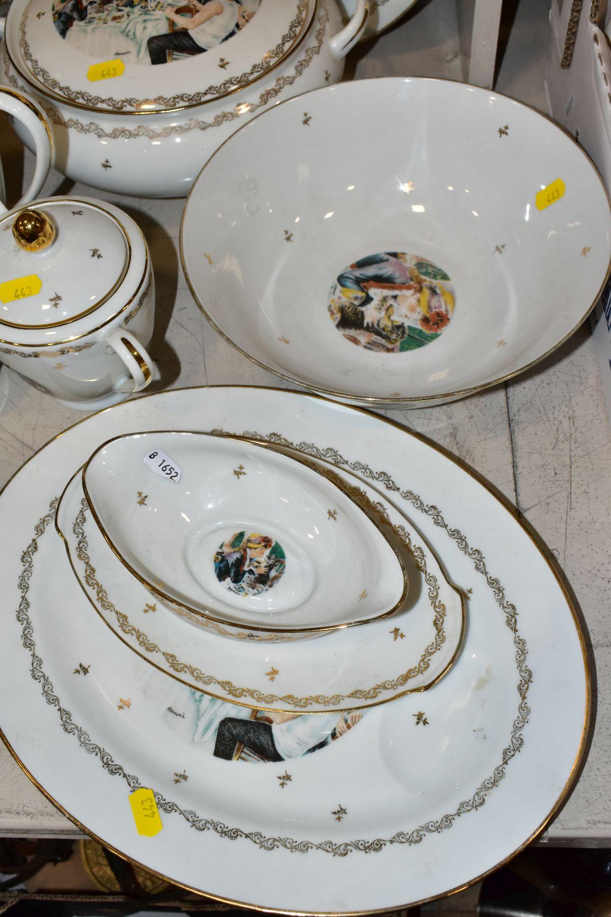 A LIMOGES 'RENOIR' DINNER SERVICE, marked to the base 'Veritable Porcelaine de Limoges Decor Reserve - Image 2 of 9