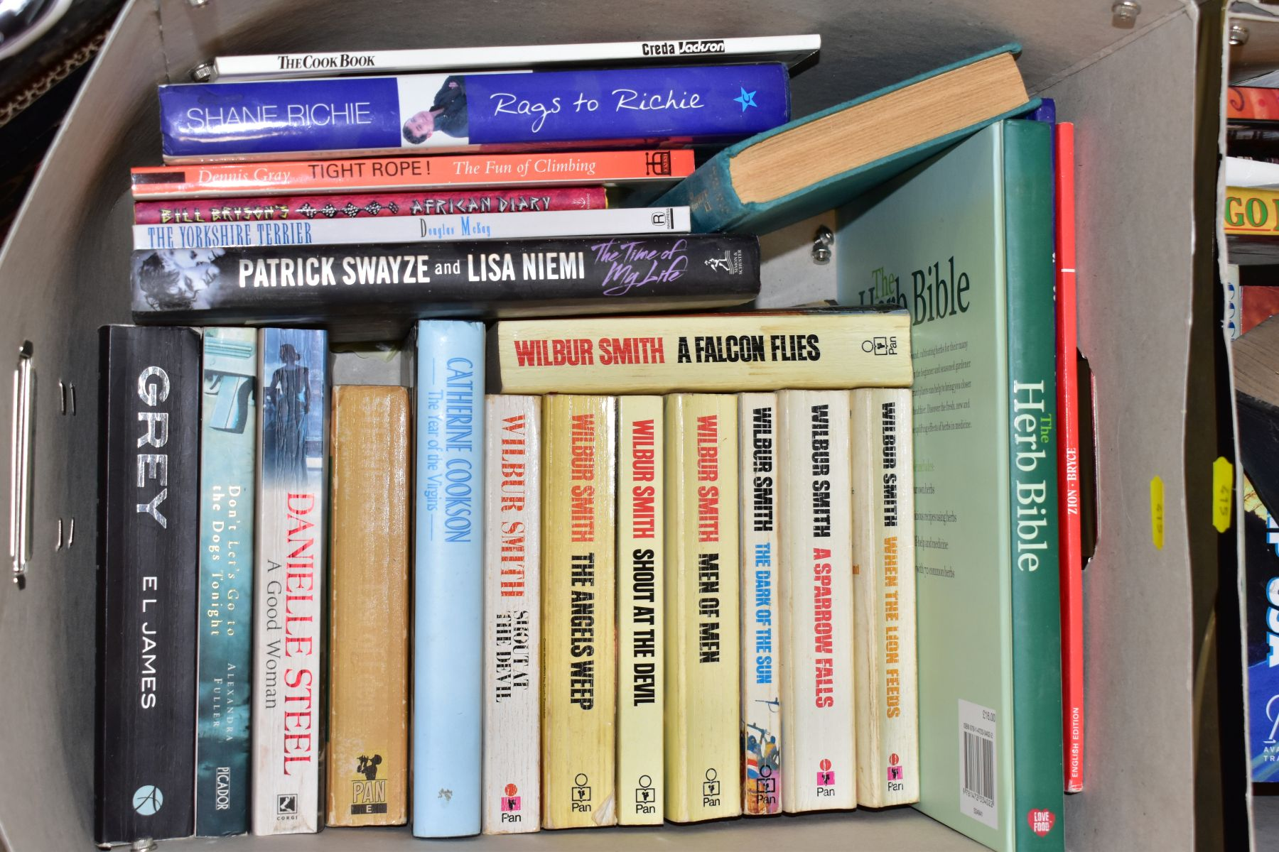 SEVEN BOXES OF ASSORTED BOOKS, including novels, cookery books, DIY books, motoring interest etc, - Image 4 of 8
