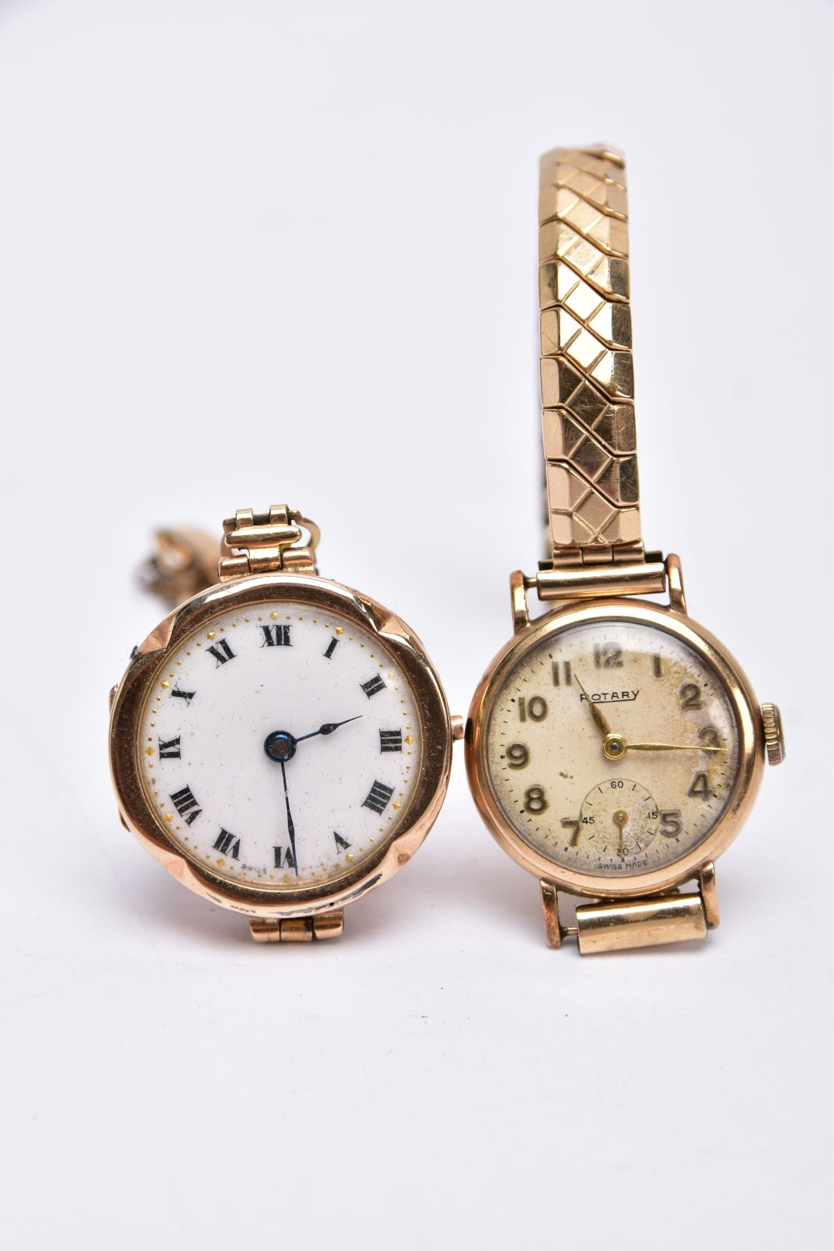 TWO GOLD CASED LADIES WRISTWATCHES, each fitted to gold plated bracelets, an early 20th century - Image 4 of 4