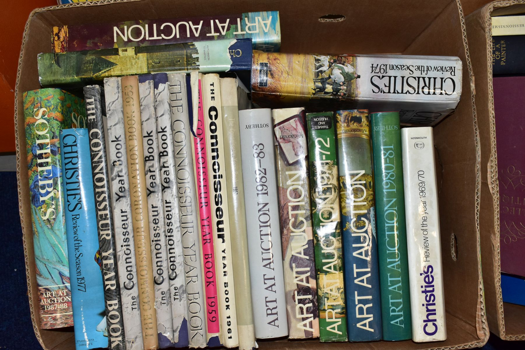 FOUR BOXES OF AUCTION REVIEW BOOKS to include Christies, The Connoiseur Year Book, Sotherbys Art - Image 2 of 6