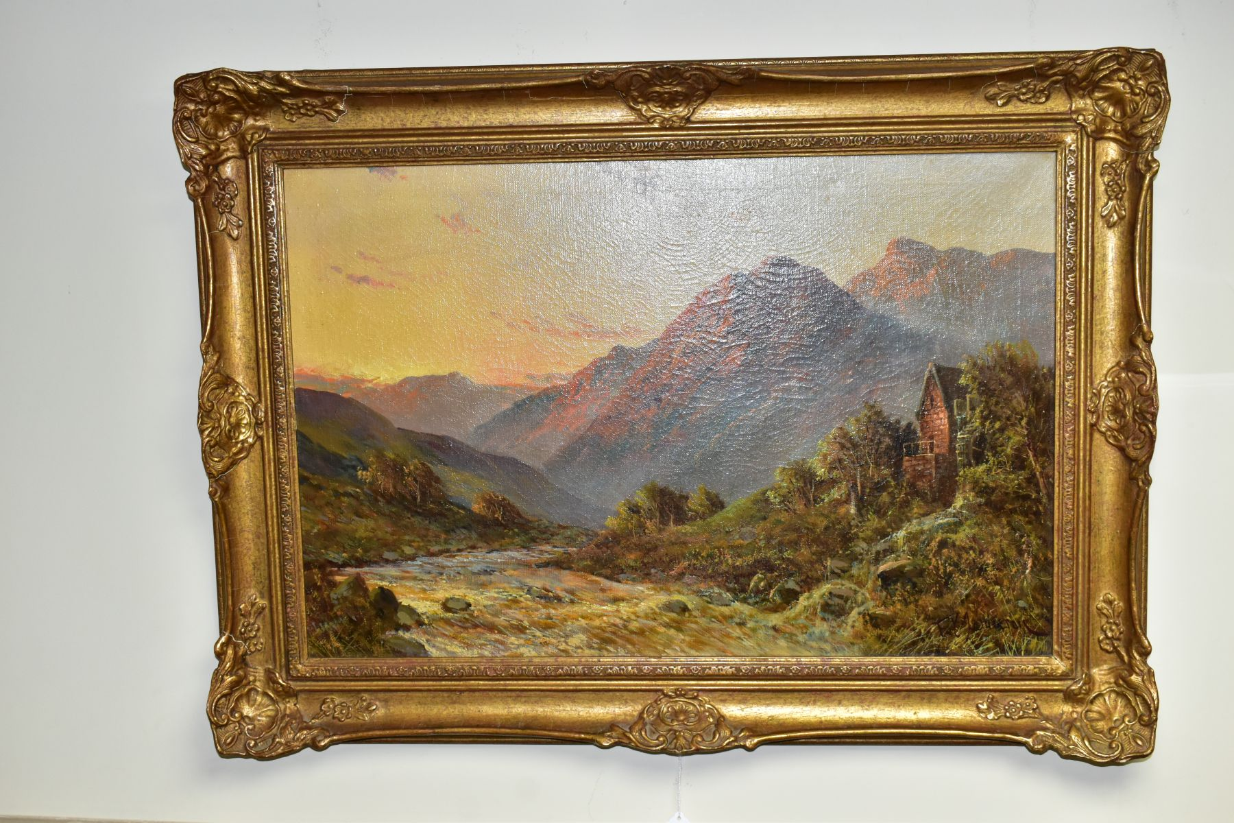 FRANCIS E JAMIESON (1895-1950) 'ALLAN WATERS NR STIRLING' a Scottish mountainous landscape with
