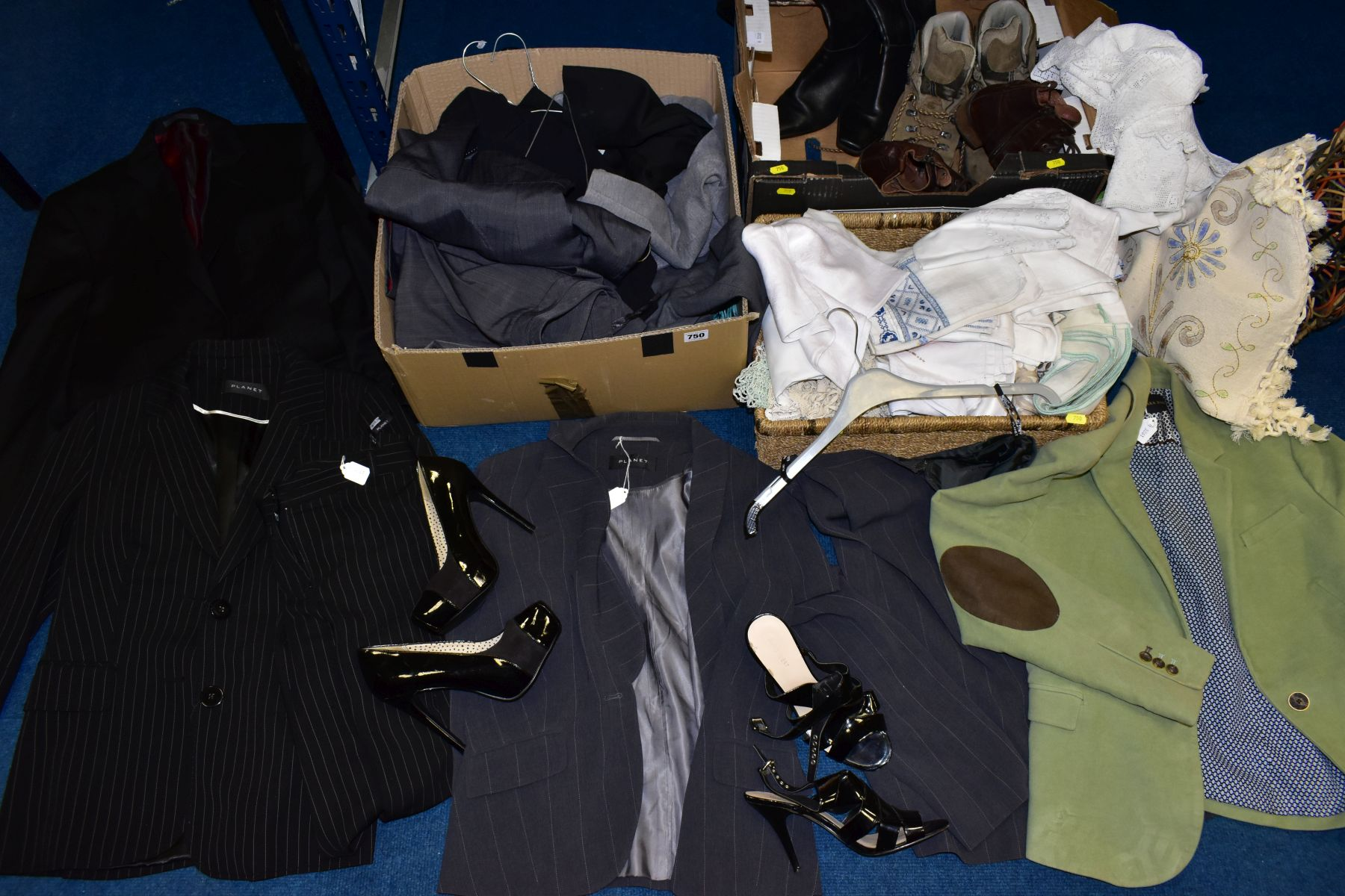 LADIES CLOTHING ETC, to include Planet trouser suit and jacket and skirt both size 12, Zara Basic