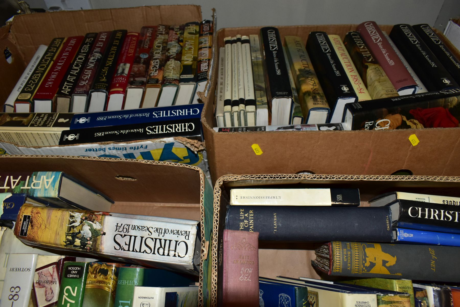 FOUR BOXES OF AUCTION REVIEW BOOKS to include Christies, The Connoiseur Year Book, Sotherbys Art - Image 6 of 6