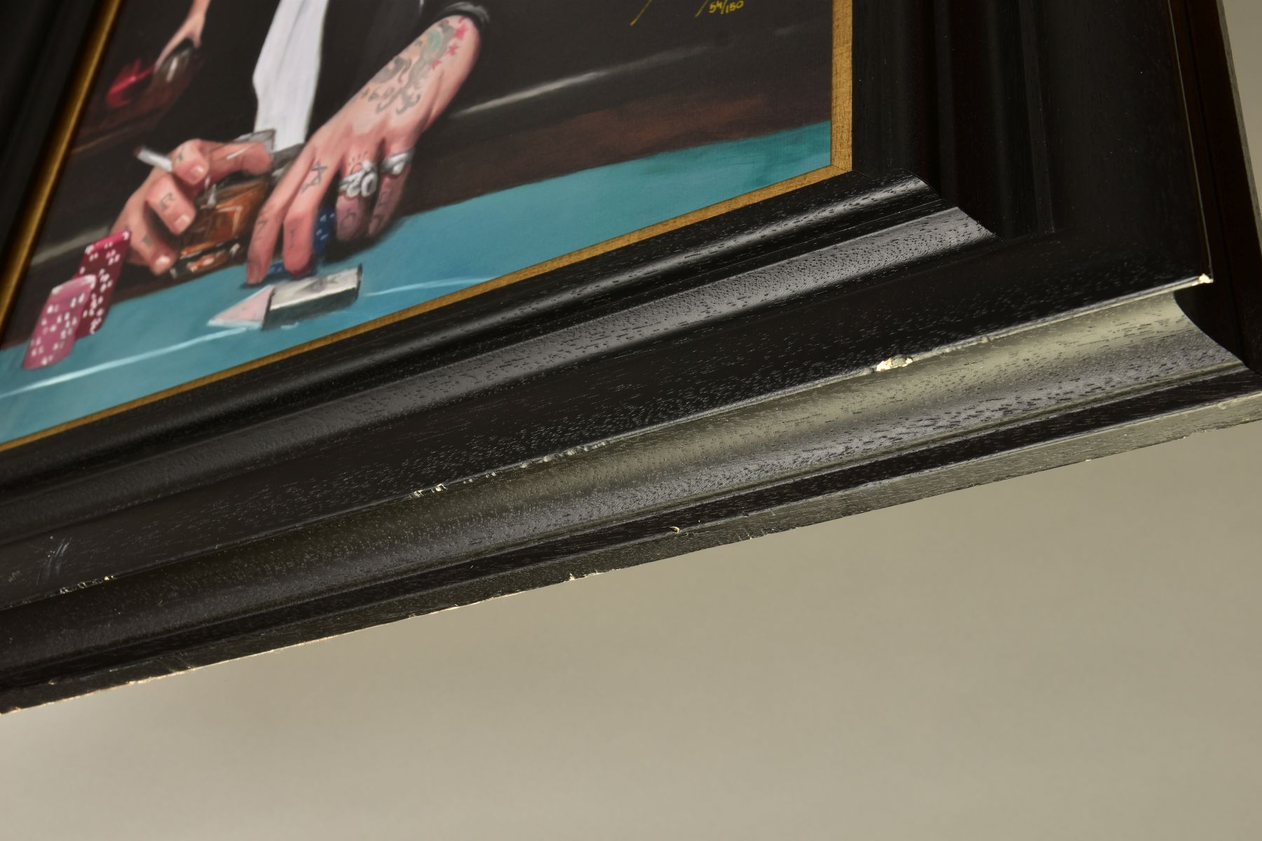VINCENT KAMP (BRITISH CONTEMPORARY) 'NOT DONE YET' a limited edition print of a gambler in a - Image 7 of 7