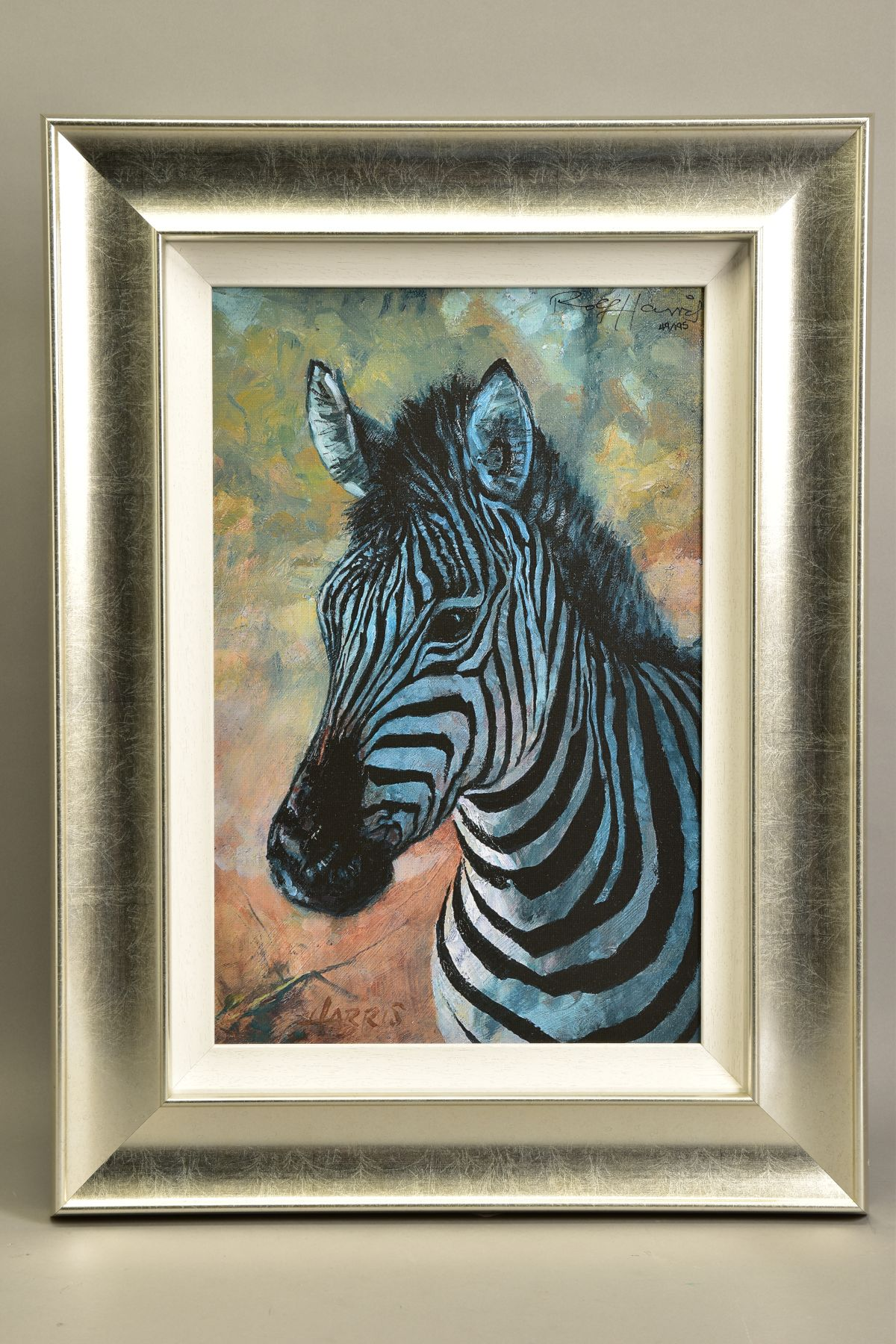 ROLF HARRIS (AUSTRALIAN 1930) 'YOUNG ZEBRA' a limited edition print 49/195, signed top right, no