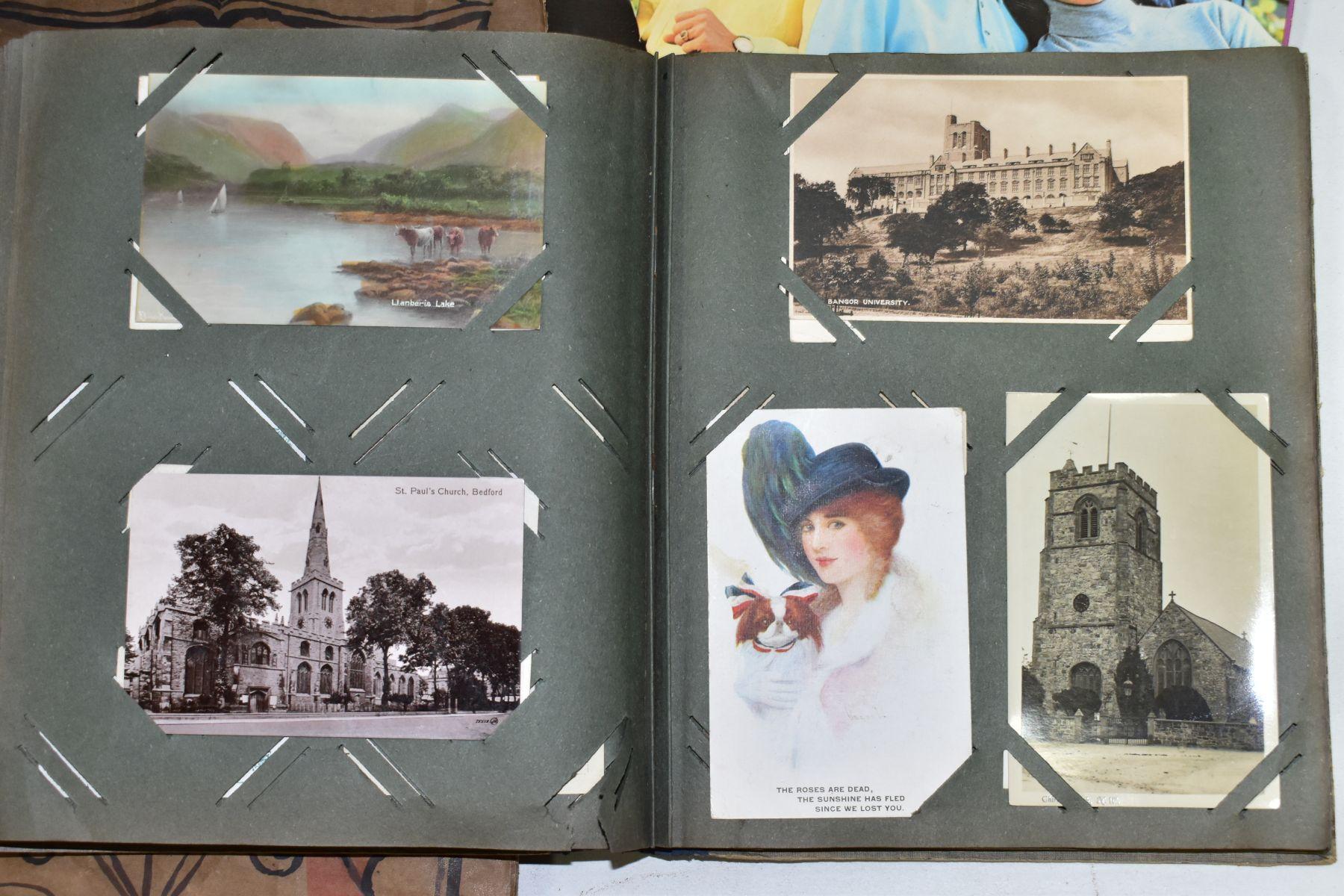 EPHEMERA, once box containing three Edwardian Postcard Albums (approximately 325 postcards), to - Image 19 of 23