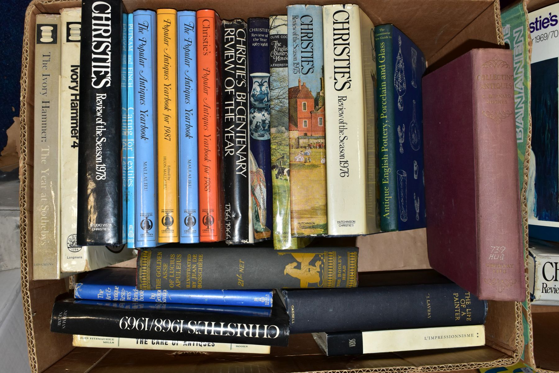 FOUR BOXES OF AUCTION REVIEW BOOKS to include Christies, The Connoiseur Year Book, Sotherbys Art - Image 3 of 6