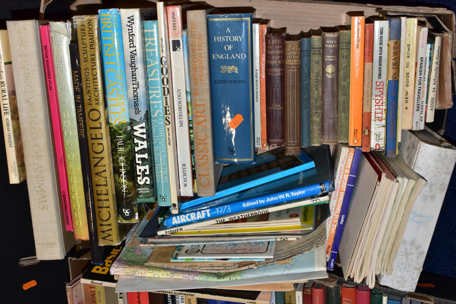 FIVE BOXES OF BOOKS, hardbacks and paperbacks, subjects include cookery, history, Puffin and Pelican - Image 4 of 6