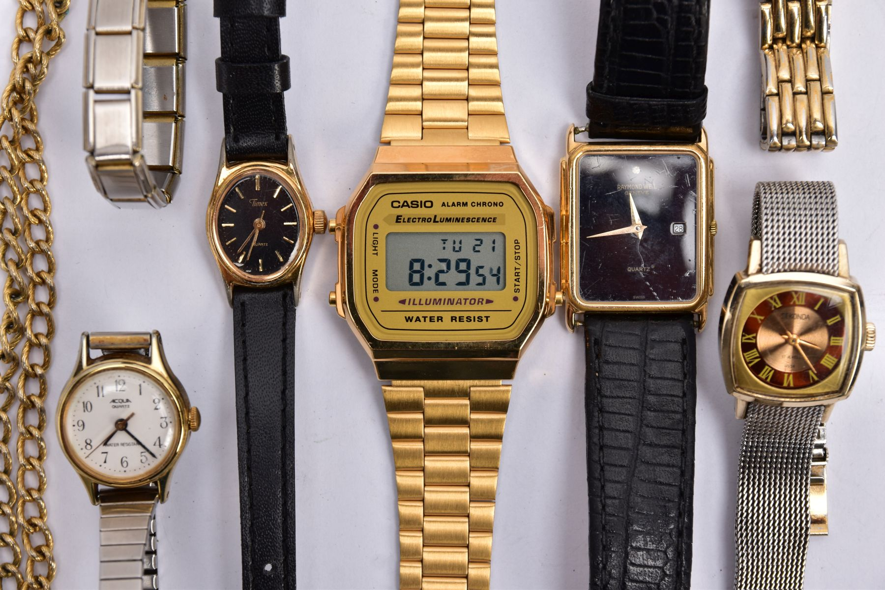 A BAG OF ASSORTED WRISTWATCHES, to include a 'Casio alarm chrono, electro luminescence' - Image 2 of 5