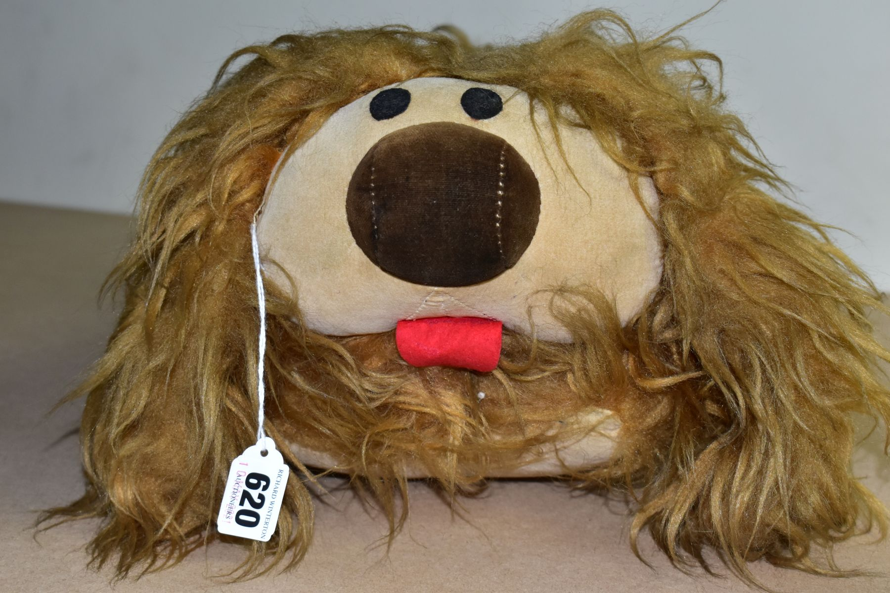 A MERRYTHOUGHT MAGIC ROUNDABOUT DOUGAL SOFT TOY, label to the underside, approximate length 45cm (