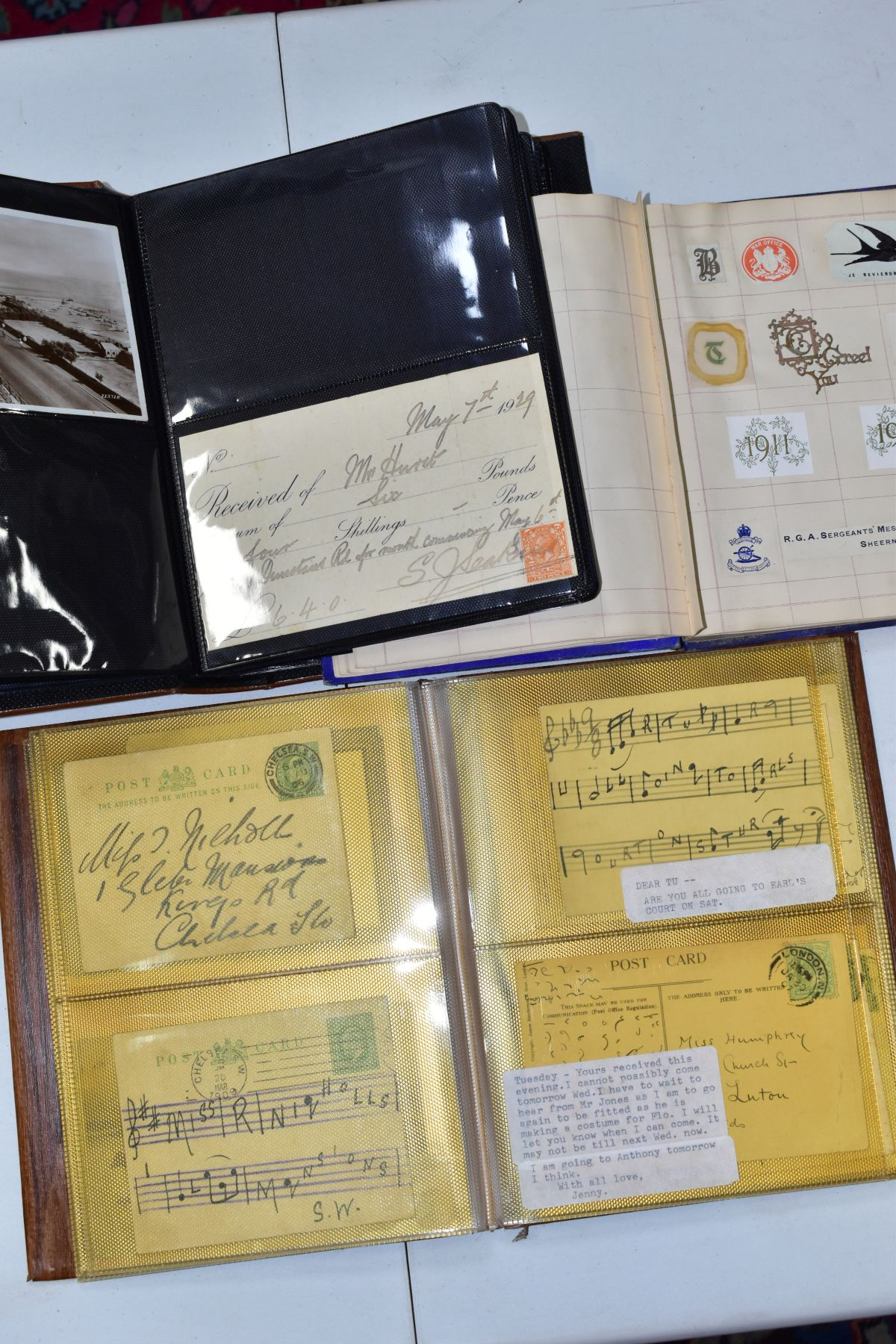 EPHEMERA AND POSTAL HISTORY, three albums containing an unusual collection of Arms and Crests, - Image 3 of 8
