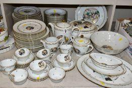 A LIMOGES 'RENOIR' DINNER SERVICE, marked to the base 'Veritable Porcelaine de Limoges Decor Reserve