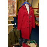 LADIES CLOTHING AND ACCESSORIES, ETC, to include John Partridge duffle coat - chest 36, John
